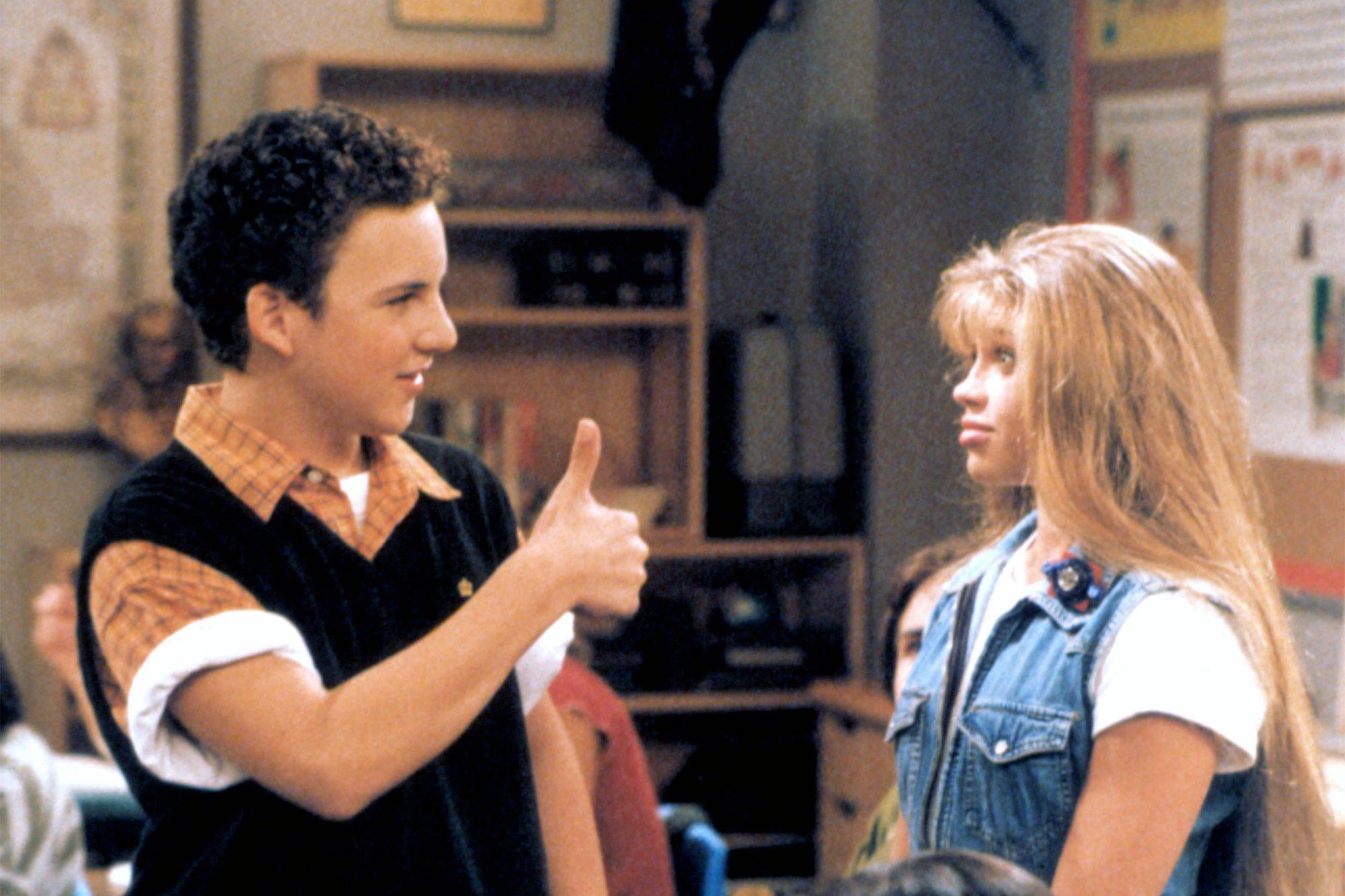 BOY MEETS WORLD, Ben Savage, Danielle Fishel, 1993-2000, (c)Touchstone Television/courtesy Everett C