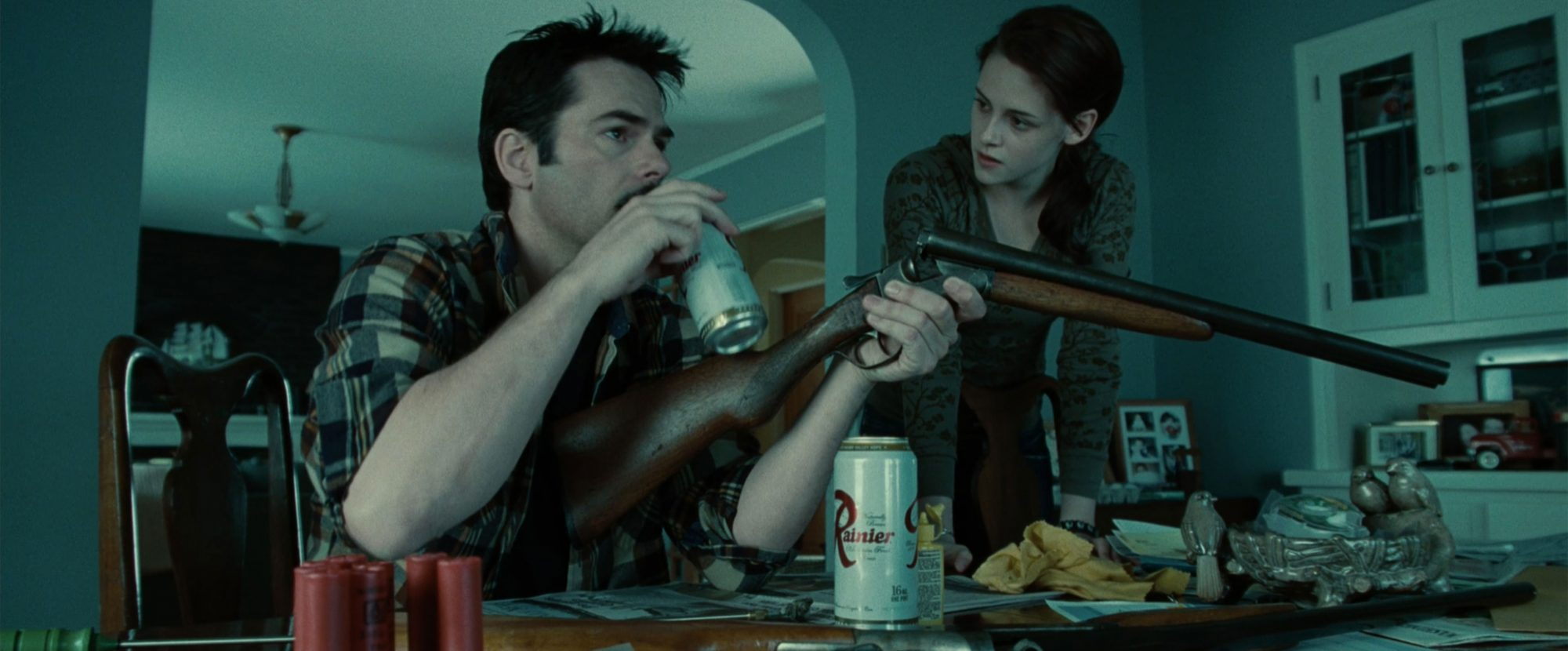 Twilight (2008) (screen grab)Billy Burke and Kristen Stewart CR: Summit