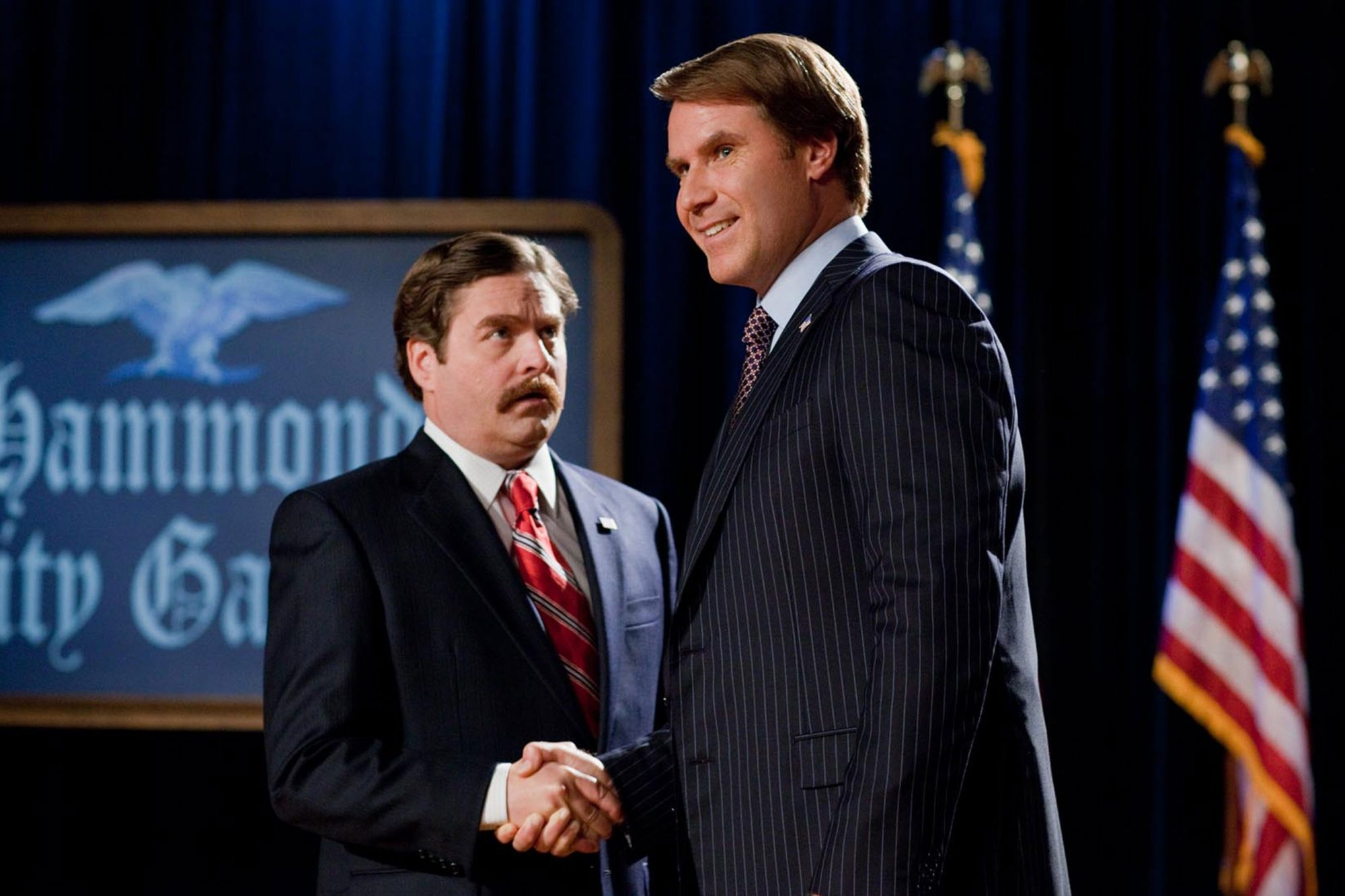 13. Will Ferrell and Zach Galifianakis in The Campaign (2012)