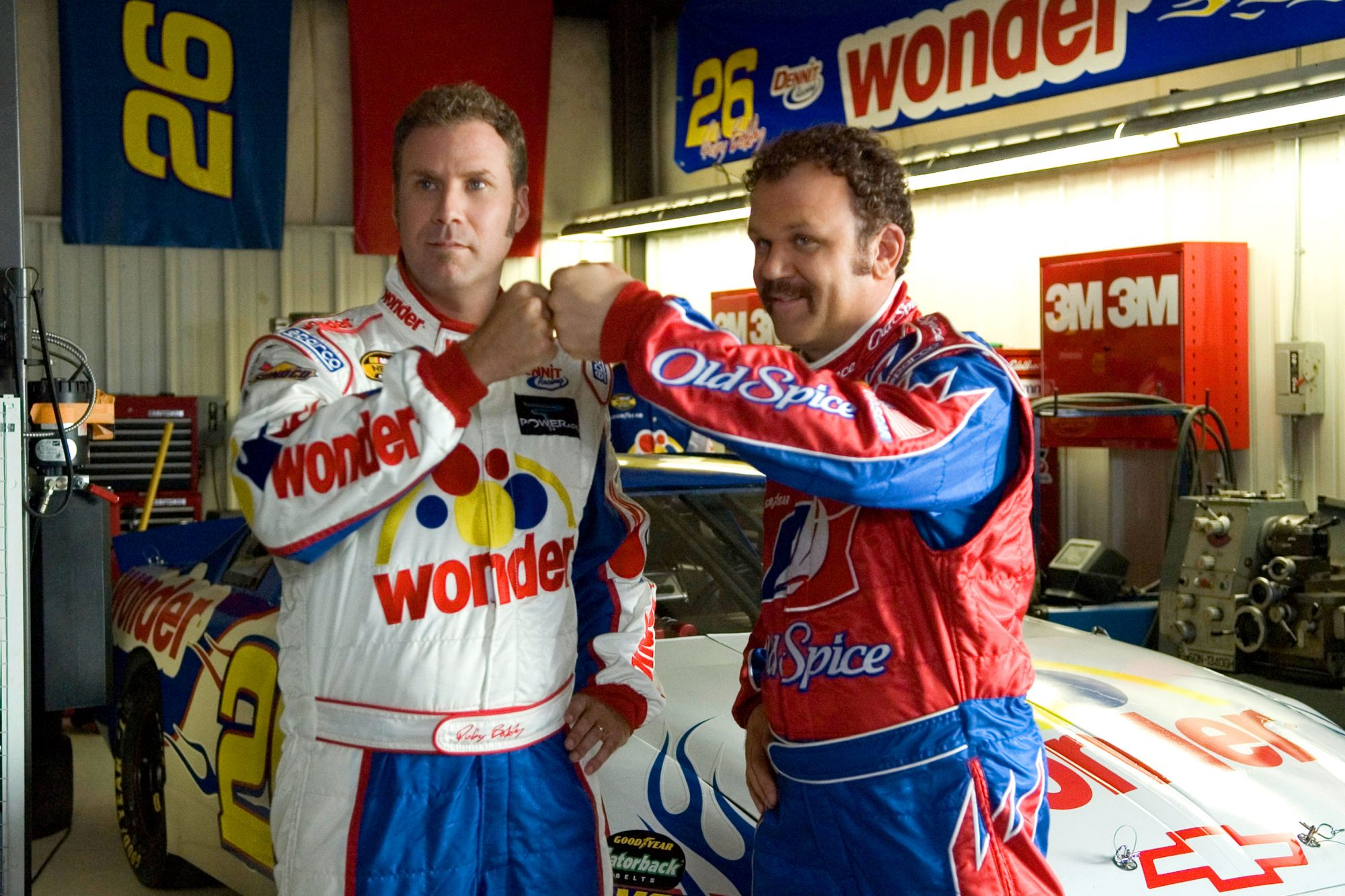 2. Will Ferrell and John C. Reilly in Talladega Nights: The Ballad of Ricky Bobby (2006)
