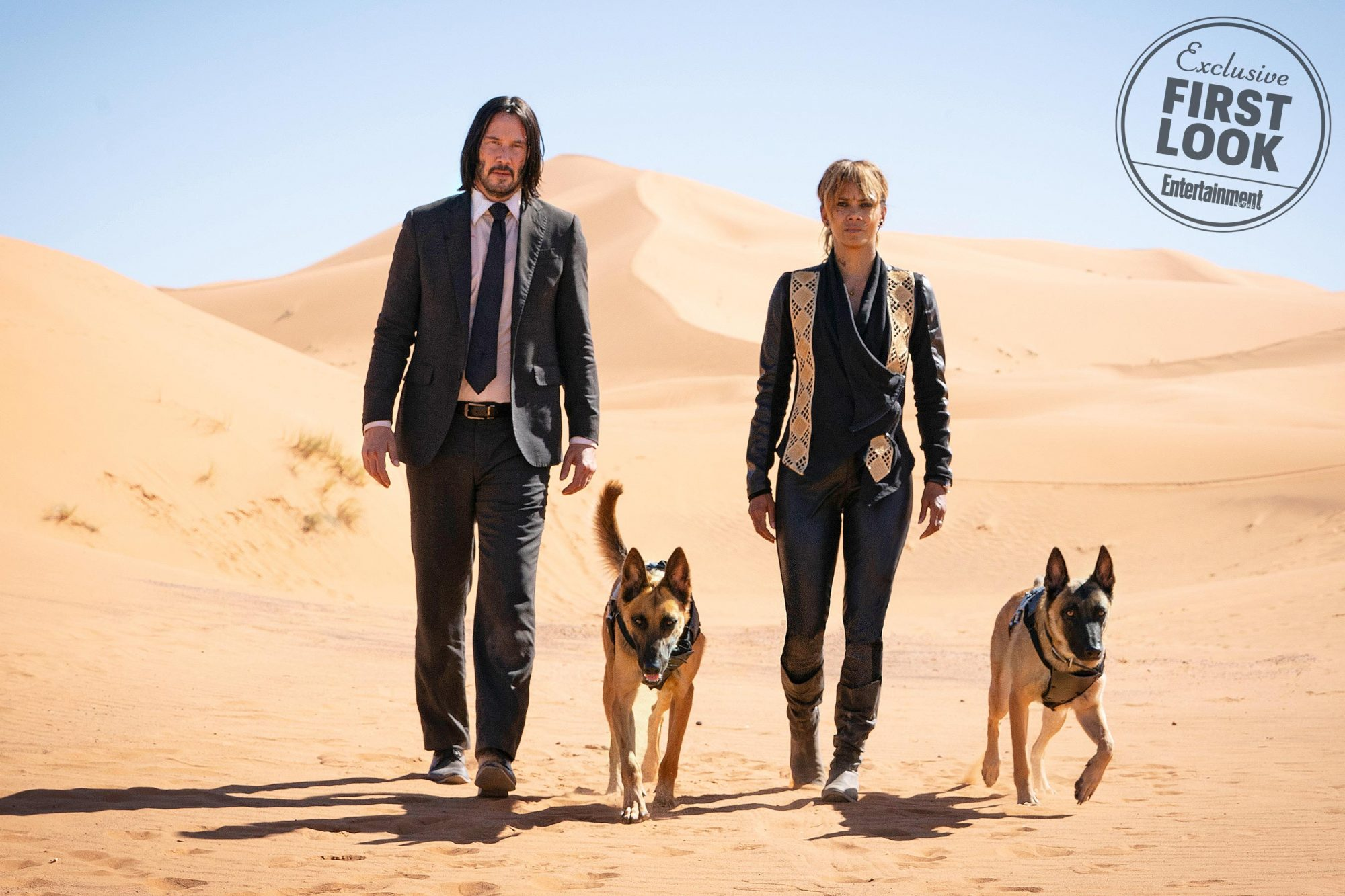 John Wick 3: ParabellumKeanu Reeves and Halle Berry