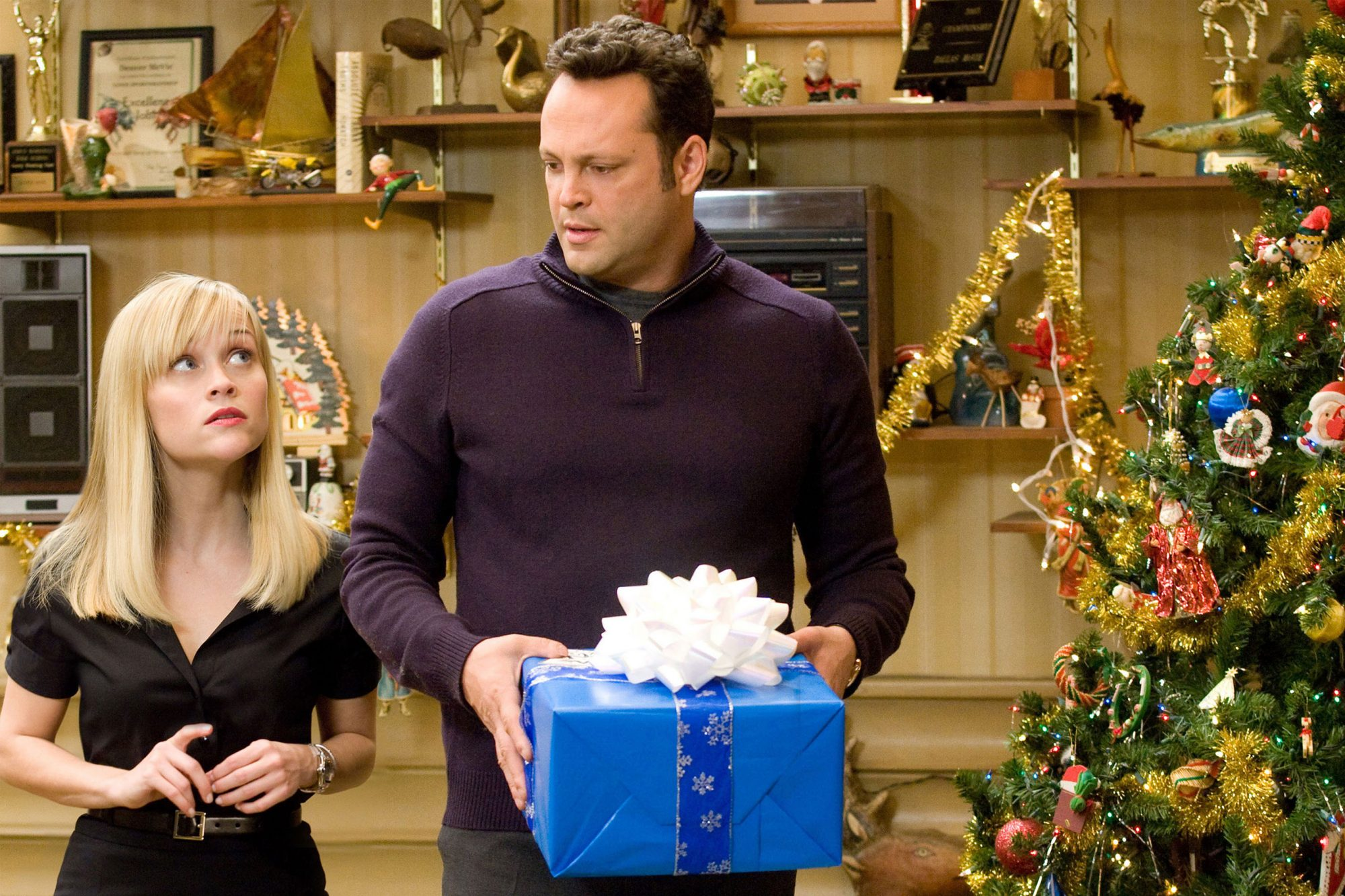 FOUR CHRISTMASES, from left: Reese Witherspoon, Vince Vaughn, 2008. ©New Line Cinema/courtesy Everet