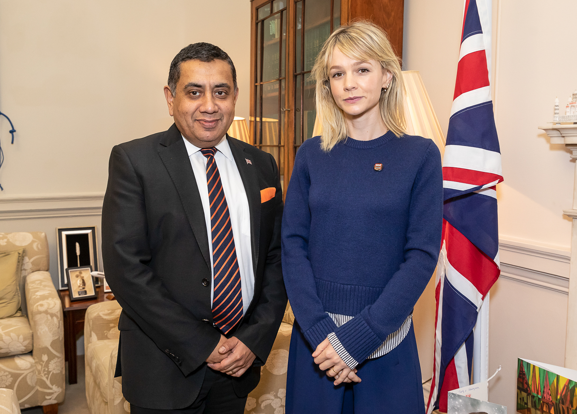 Lord Ahmad Meets With War Child Ambassador Carey Mulligan