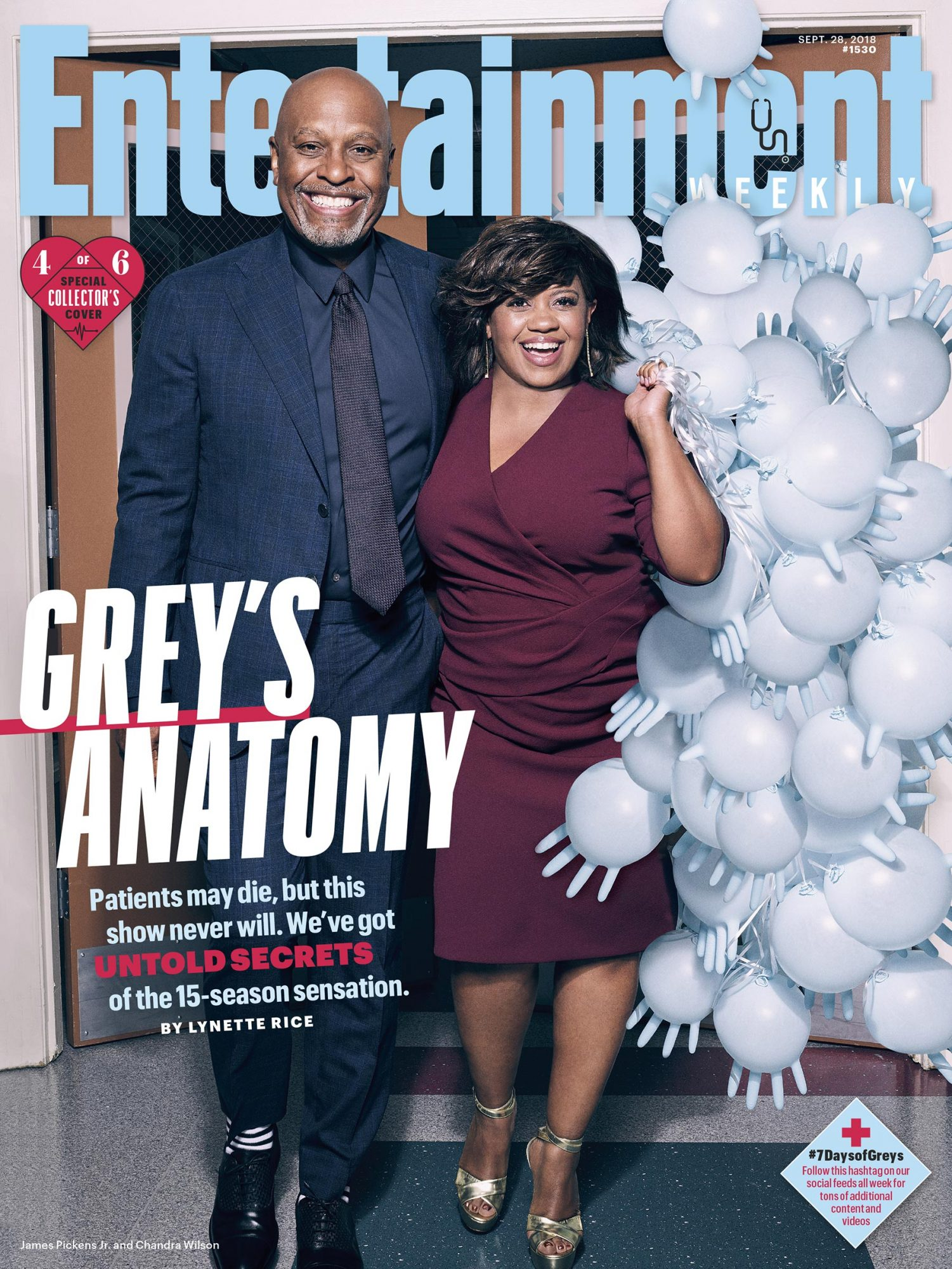 Collector's Cover #4: James Pickens Jr. (Dr. Richard Webber) and Chandra Wilson (Dr. Miranda Bailey)