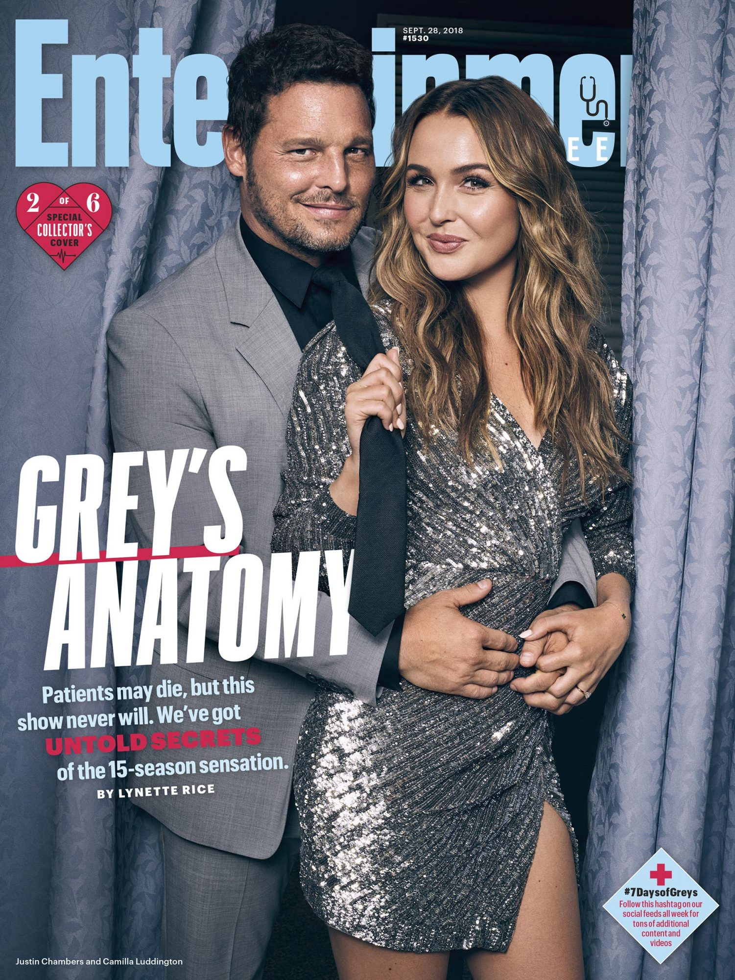Collector's Cover #2: Justin Chambers (Dr. Alex Karev) and Camilla Luddington (Dr. Jo Wilson)