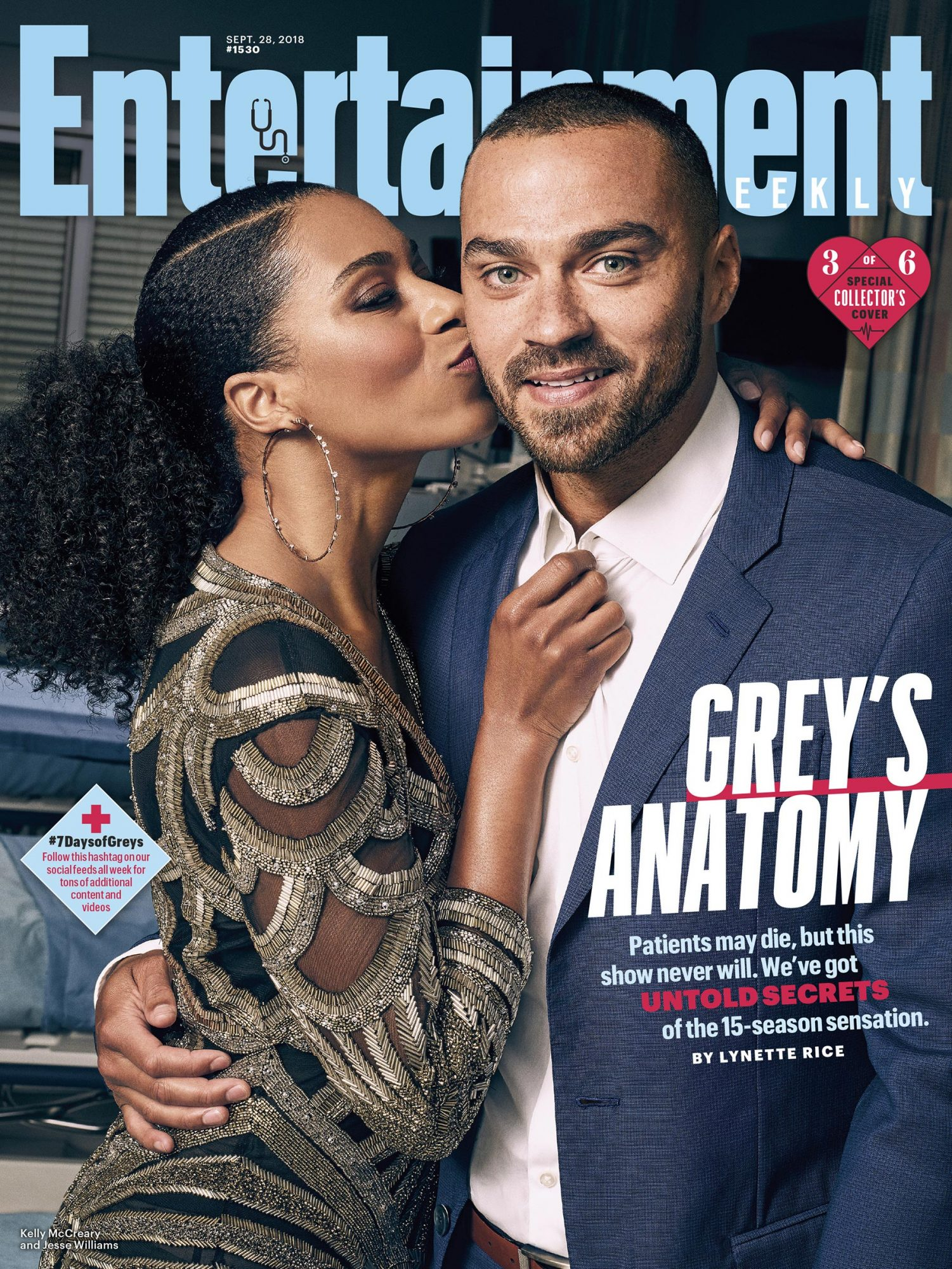 Collector's Cover #3: Kelly McCreary (Dr. Maggie Pierce) and Jesse Williams (Dr. Jackson Avery)