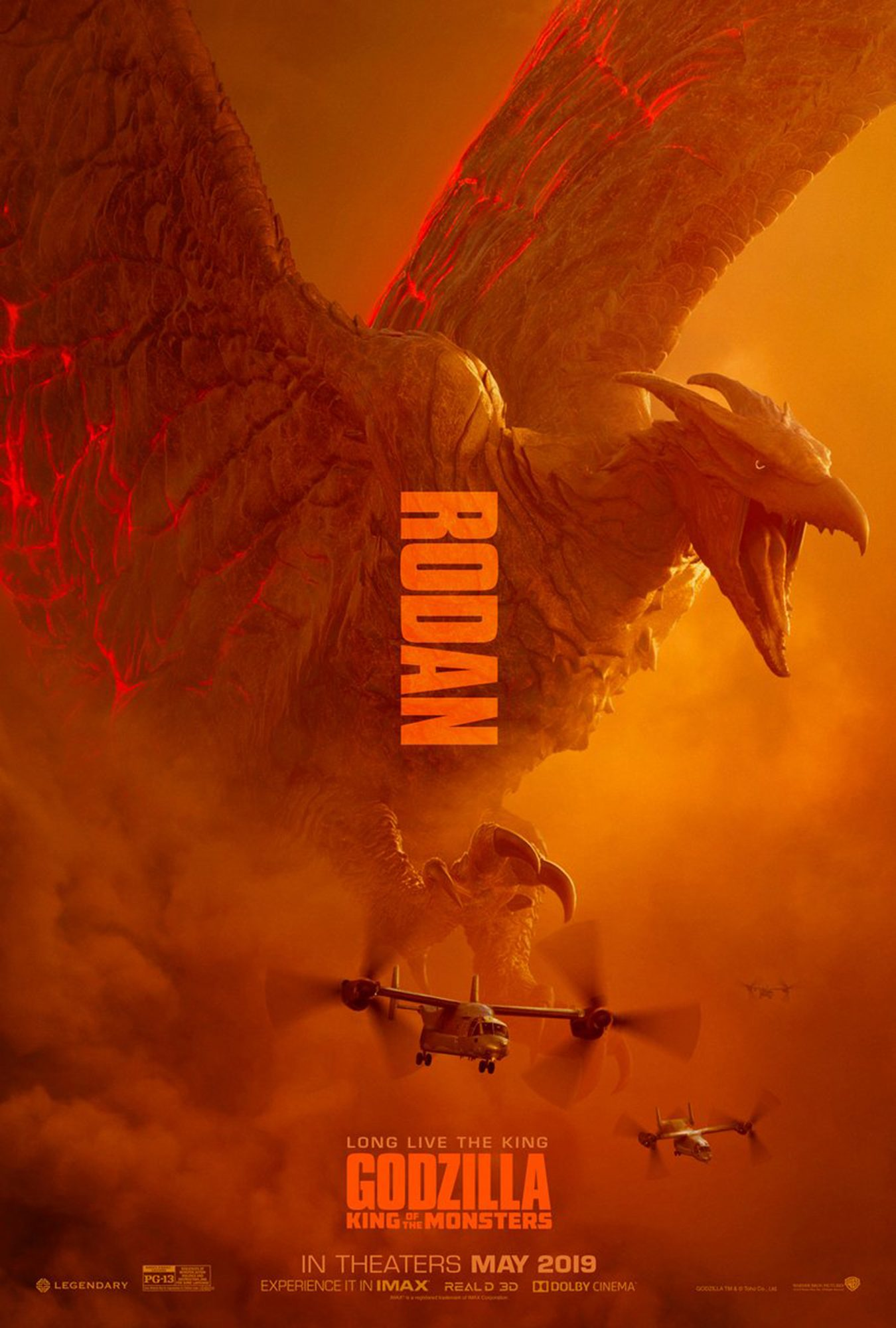 Godzilla: King of the Monsters postersRodan