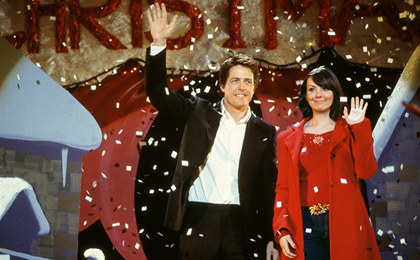 GALLERY: Holiday Rom-Coms: - Love Actually (2003) HUGH GRANT and MARTINE McCUTCHEON