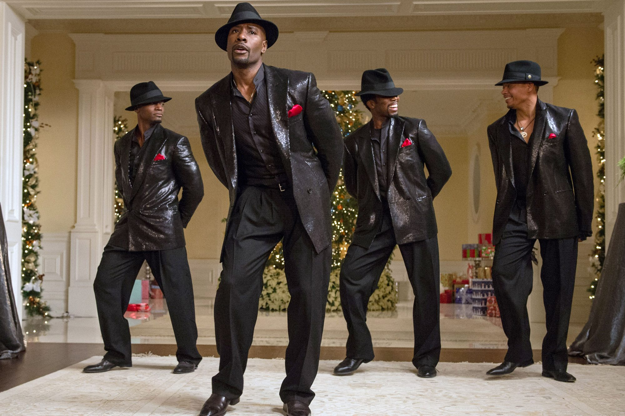 THE BEST MAN HOLIDAY, from left: Taye Diggs, Morris Chestnut, Harold Perrineau, Terrence Howard, 201