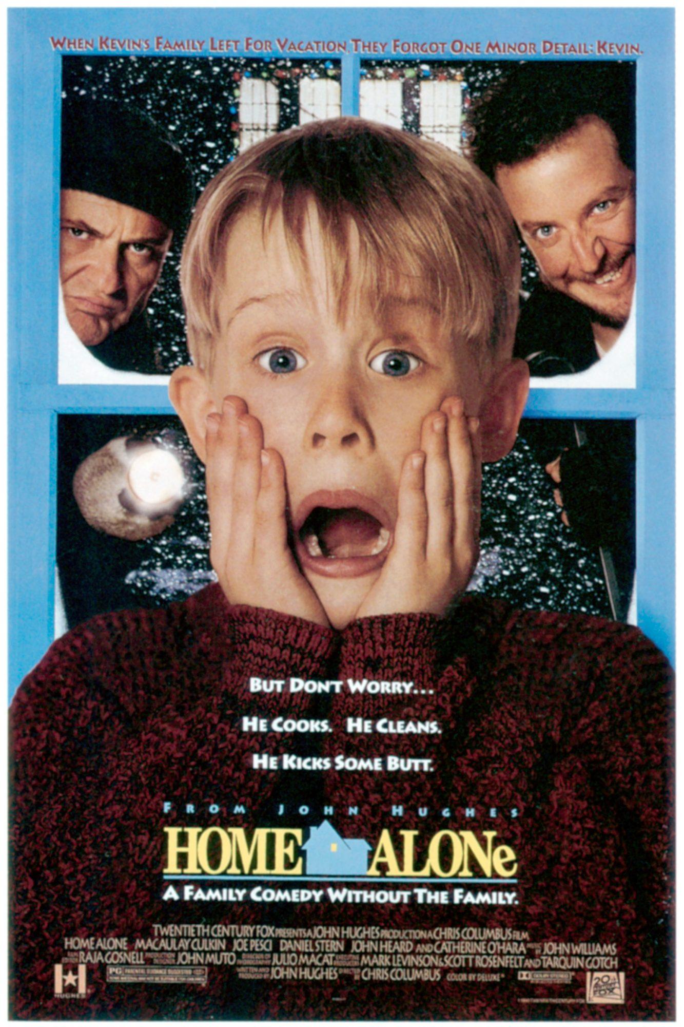 HOME ALONE, from left: Joe Pesci, Macaulay Culkin, Daniel Stern, 1990, TM and Copyright ©20th Centur