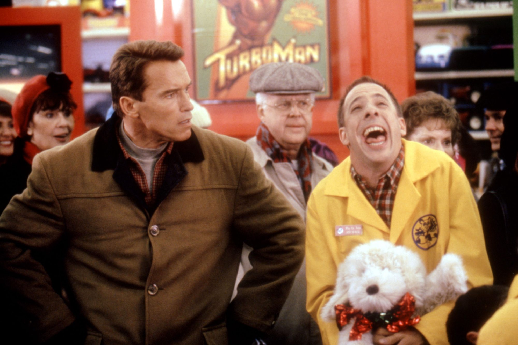 JINGLE ALL THE WAY, Arnold Schwarzenegger, 1996, TM and Copyright (c)20th Century Fox Film Corp. All