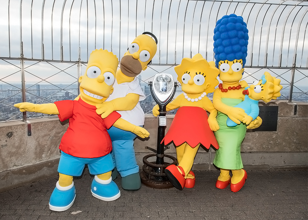 "Empire State Building Celebrates 30th Anniversary Of ""The Simpsons"""