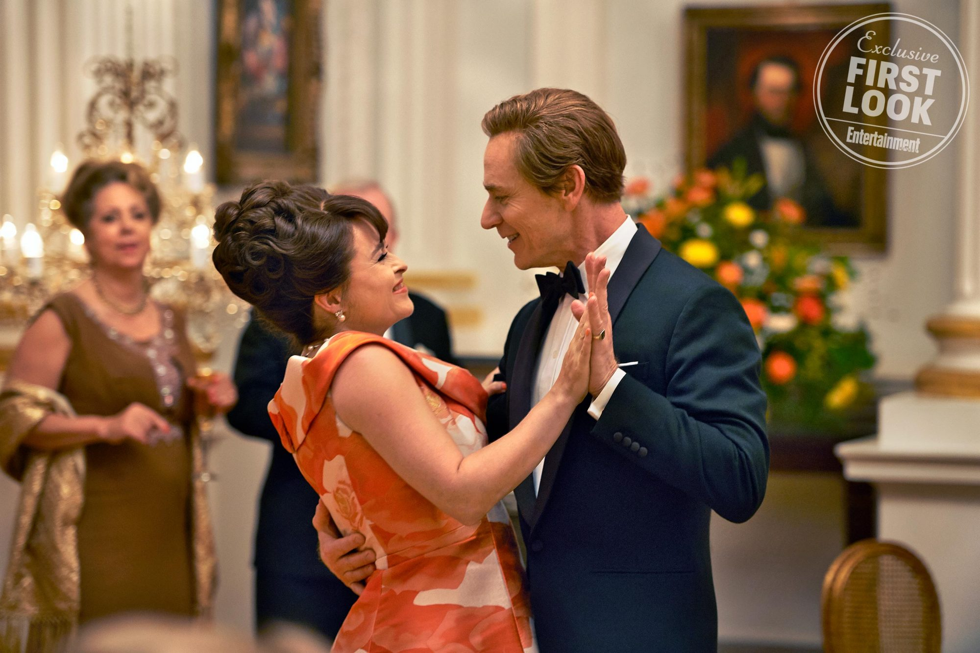 The Crown Pictured: Helena Bonham Carter and Ben Daniels