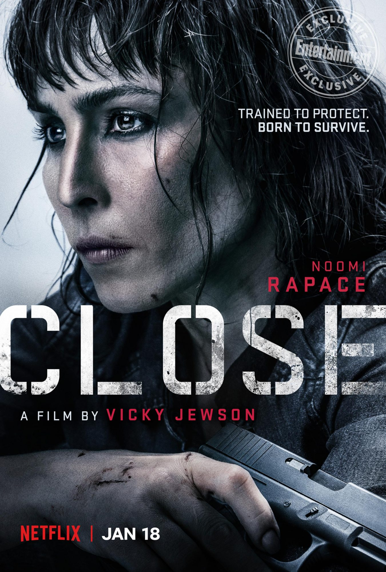 Noomi Rapace Stars As Female Bodyguard In Trailer For Netflix S Close Ew Com