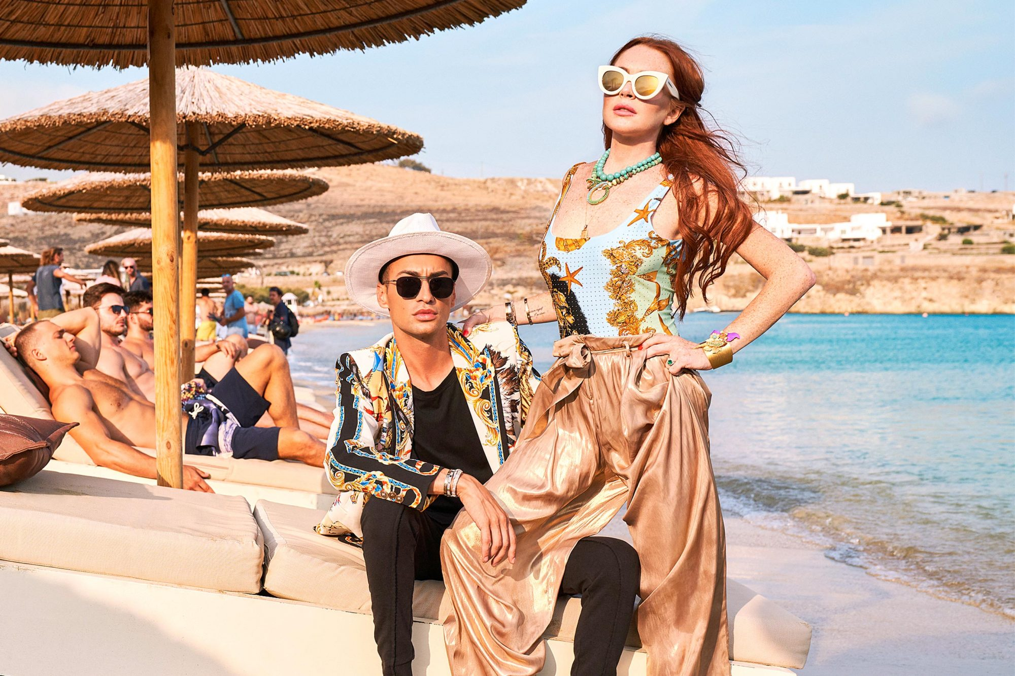 Lindsay Lohan's Beach ClubGalleryPictured: Panos, Lindsay Lohan
