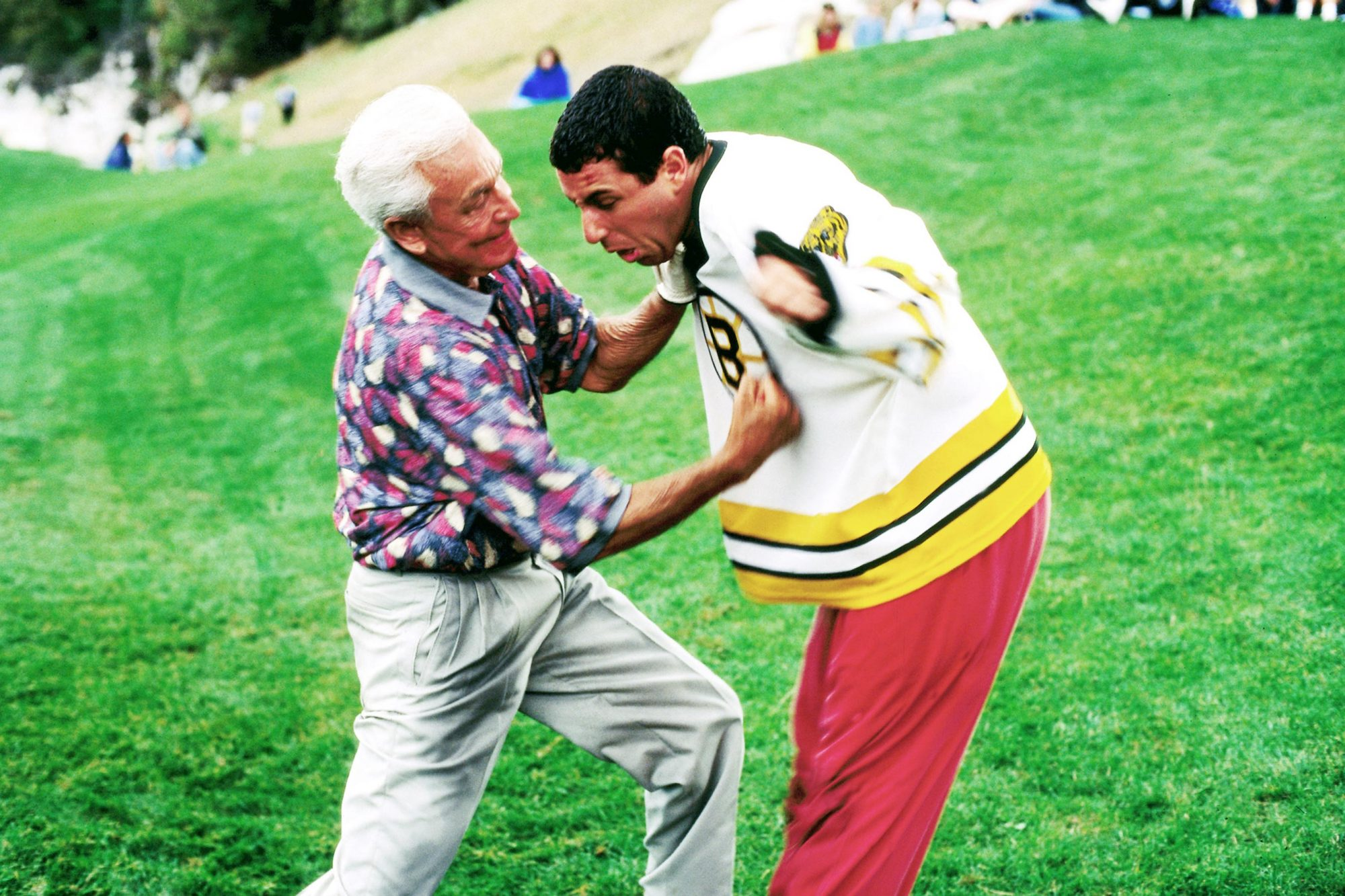 HAPPY GILMORE, Bob Barker, Adam Sandler, 1996, (c) Universal/courtesy Everett Collection