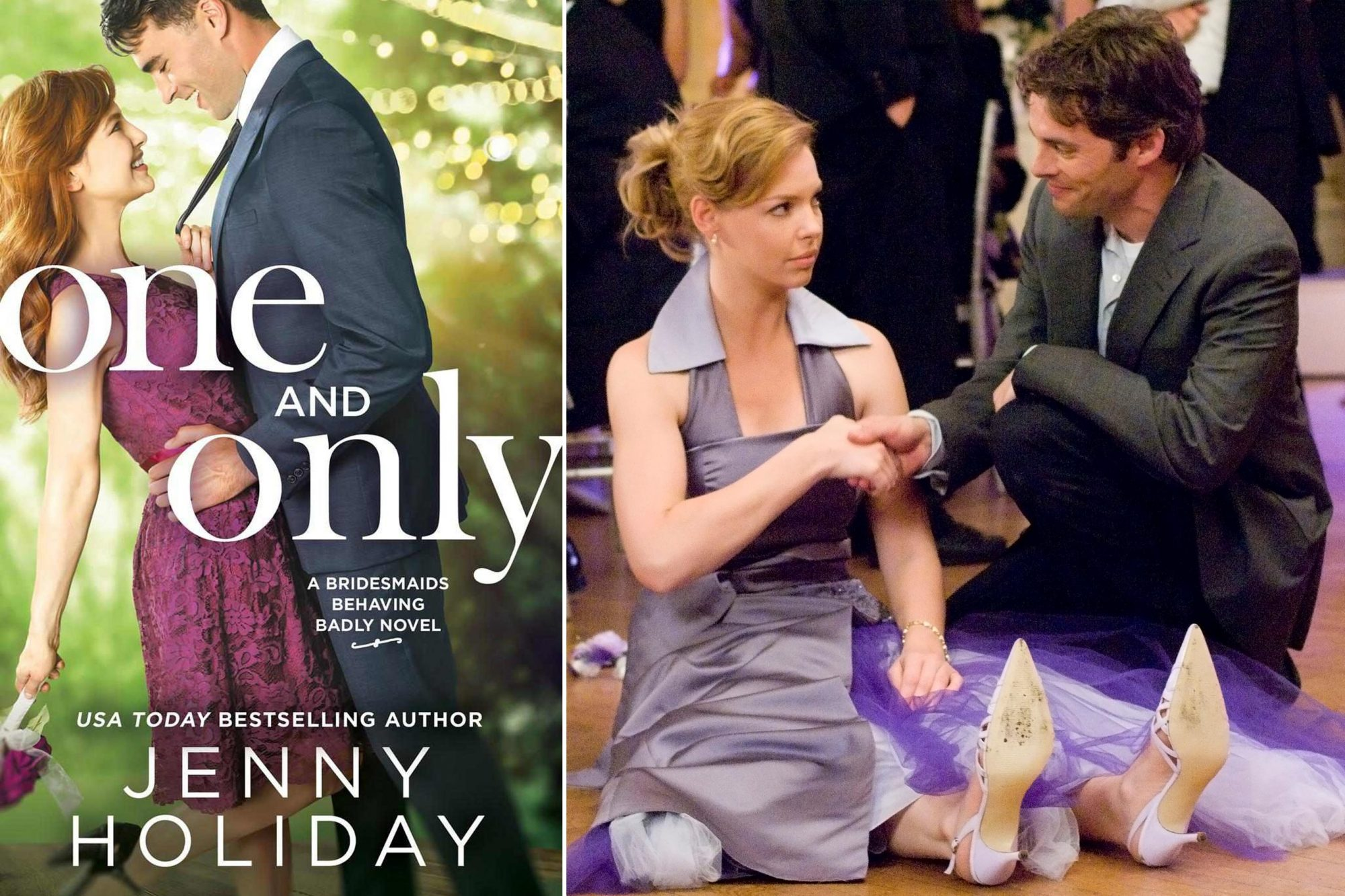 Read One and Only by Jenny Holiday; Watch 27 Dresses (2008)