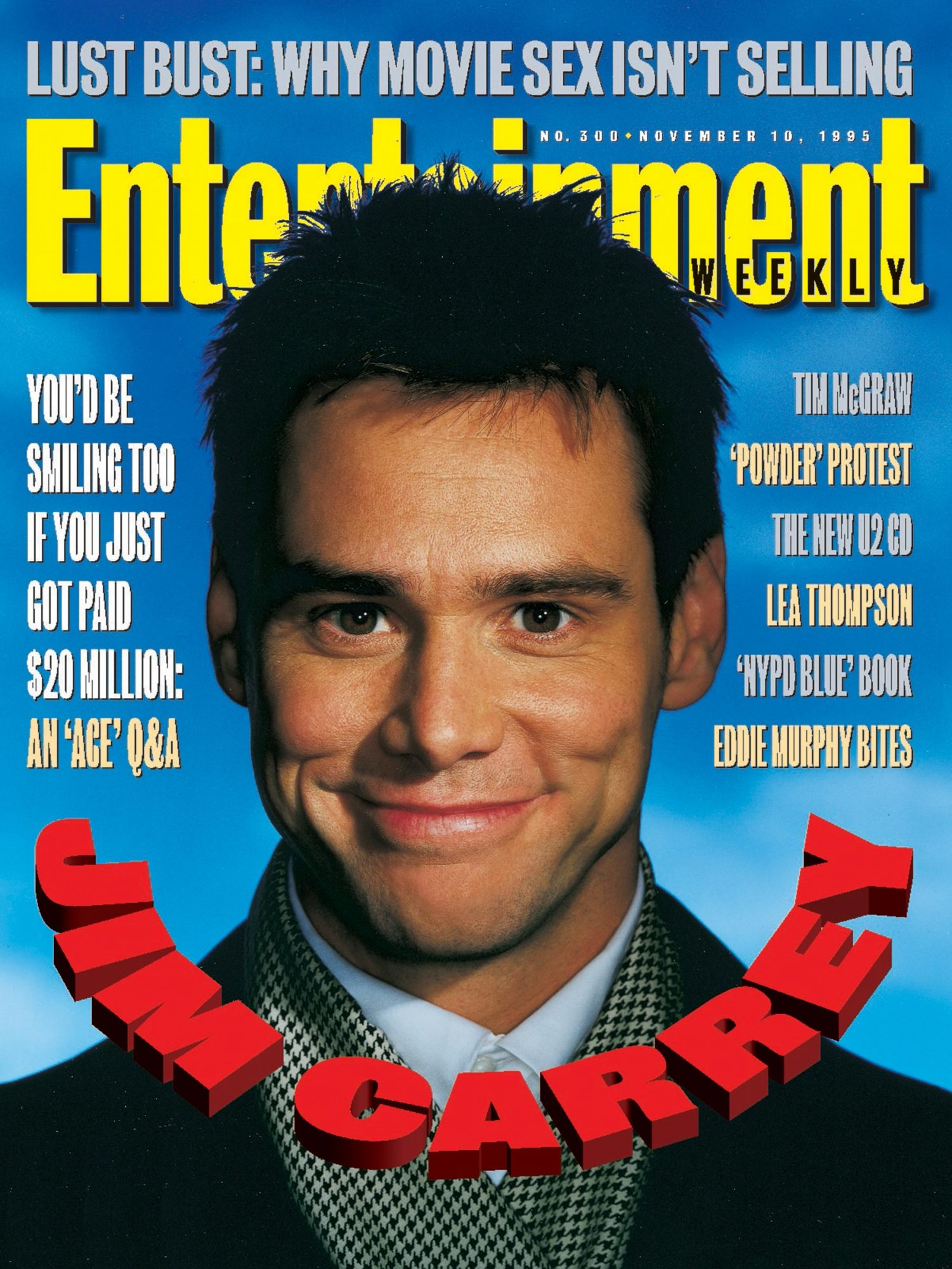 Entertainment WeeklyJim CarreyNovember 10, 1995# 300