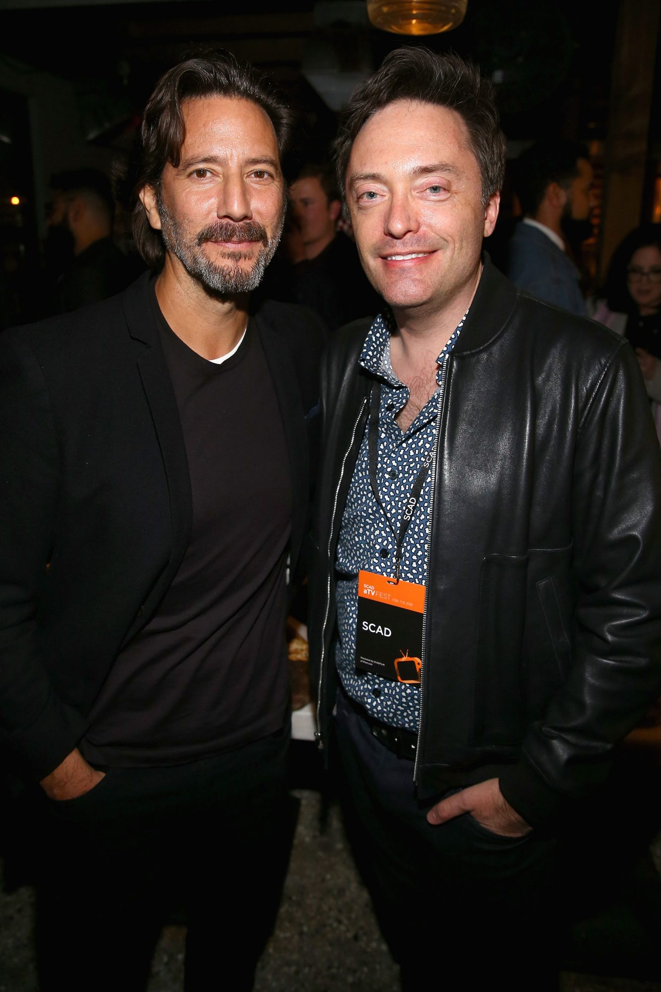The Passage star Henry Ian Cusick (left) at the SCAD aTVfest and Entertainment Weekly party at Lure
