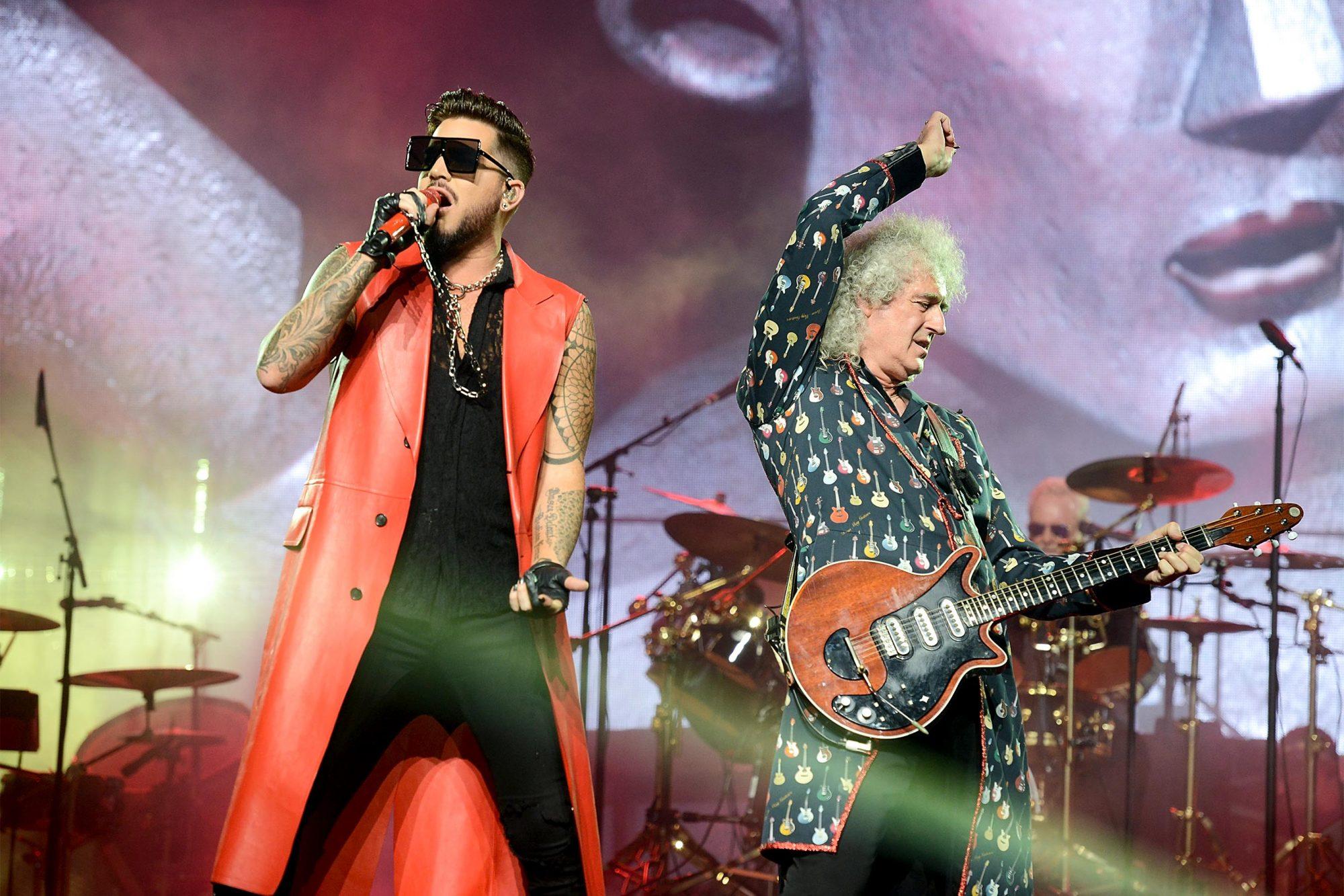 Queen And Adam Lambert Perform At Wembley Arena