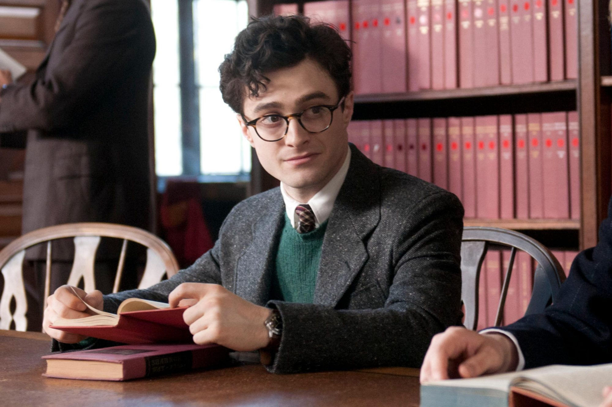 KILL YOUR DARLINGS, from left: Ben Foster, as William Burroughs, Daniel Radcliffe, as Allen Ginsberg