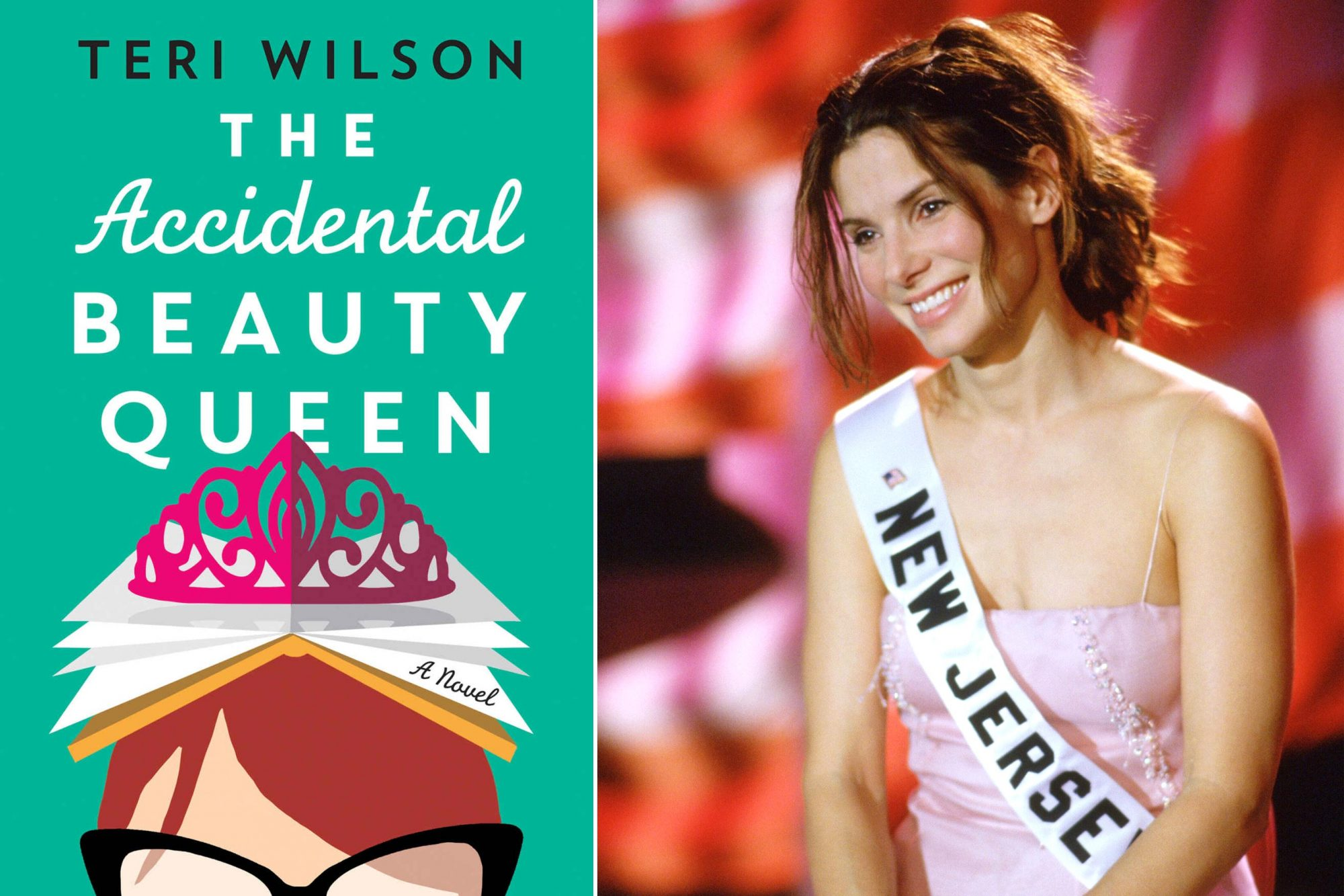 Read The Accidental Beauty Queen by Teri Wilson; Watch Miss Congeniality (2000)