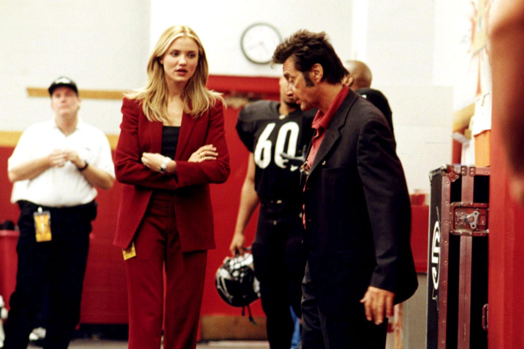 ANY GIVEN SUNDAY, Cameron Diaz, Al Pacino, 1999