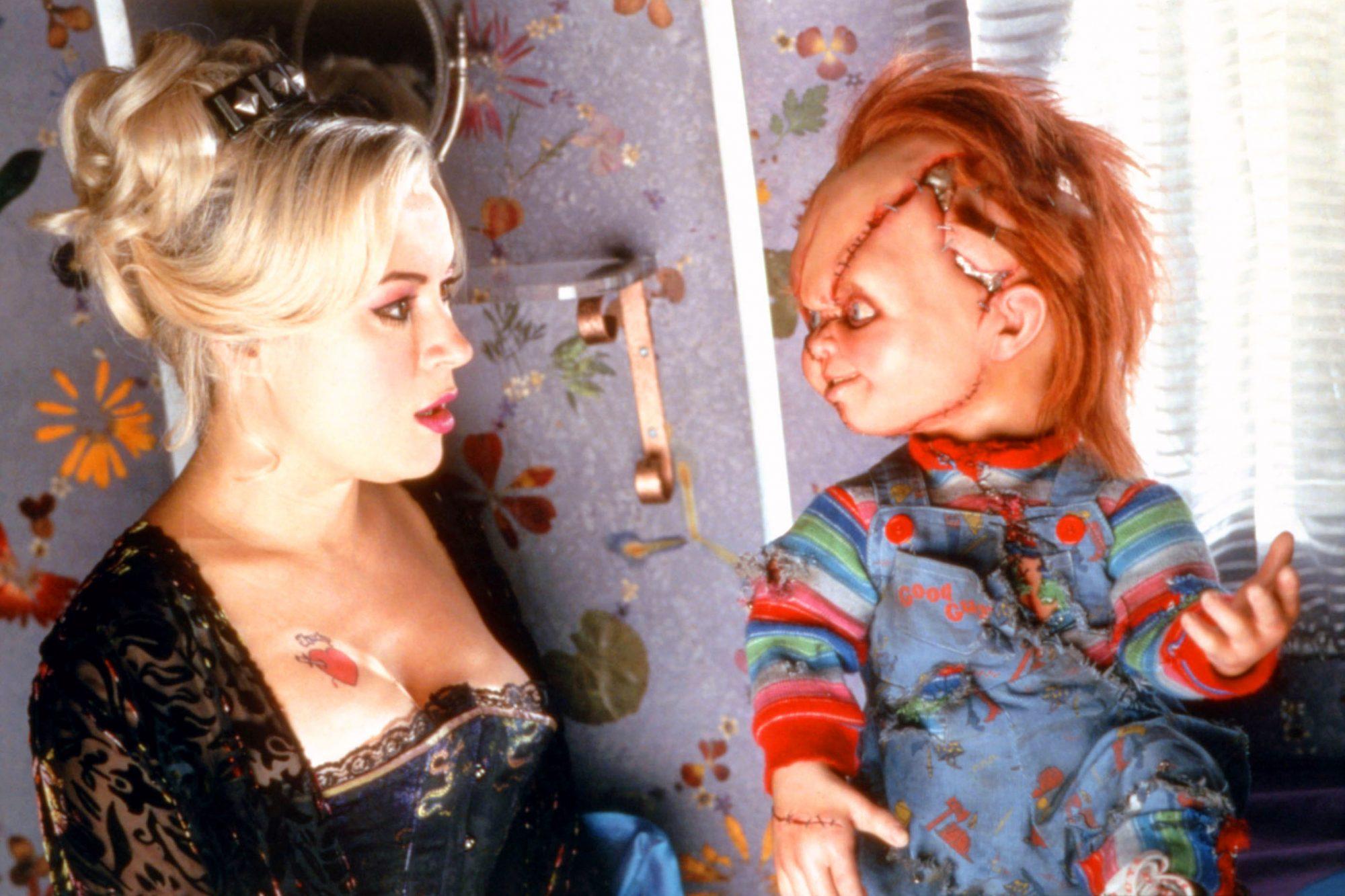 BRIDE OF CHUCKY, Jennifer Tilly, Chucky, 1998, (c)MCA Universal/courtesy Everett Collection
