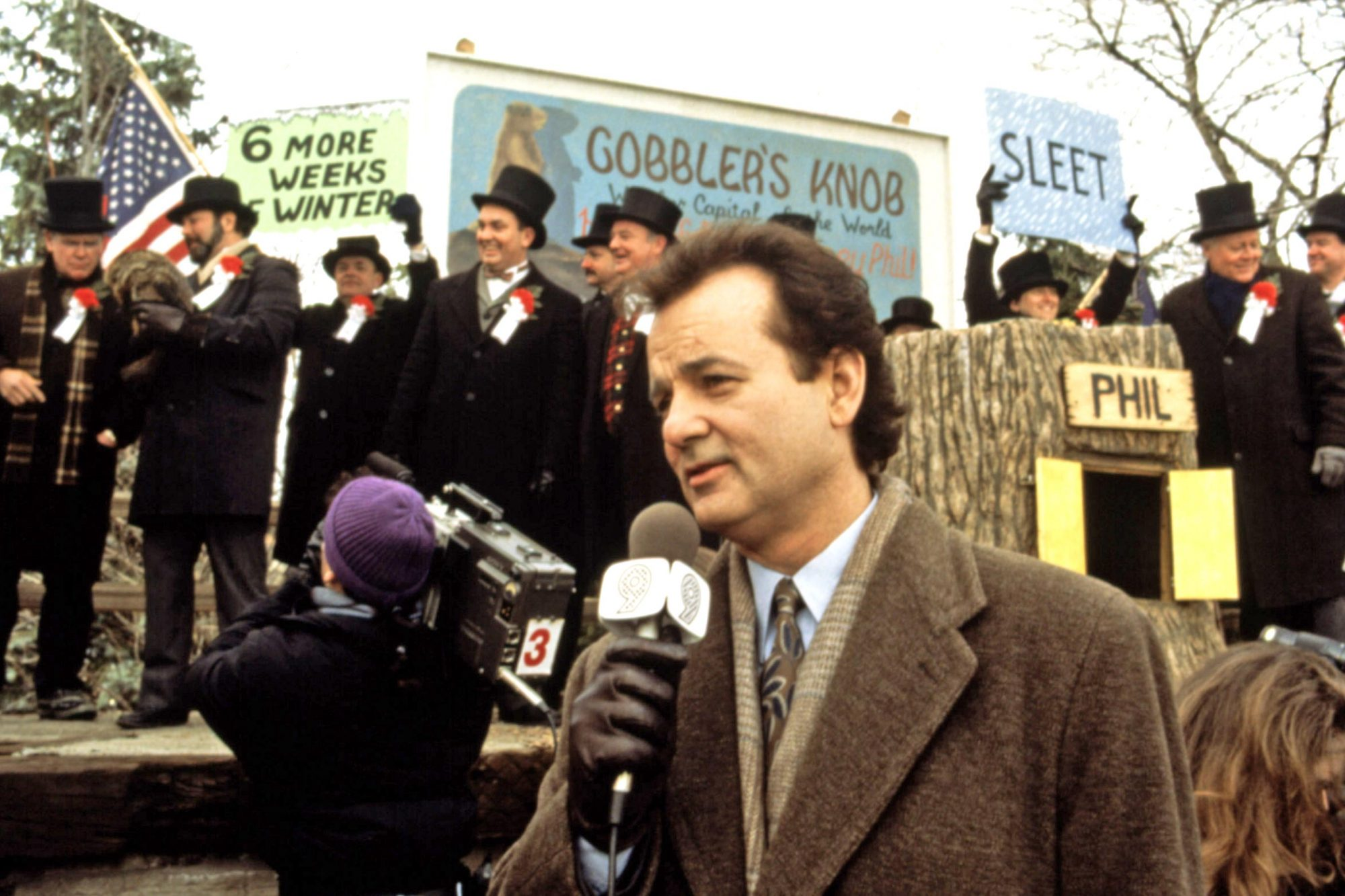 GROUNDHOG DAY, Bill Murray, 1993. (c) Columbia/courtesy Everett Collection