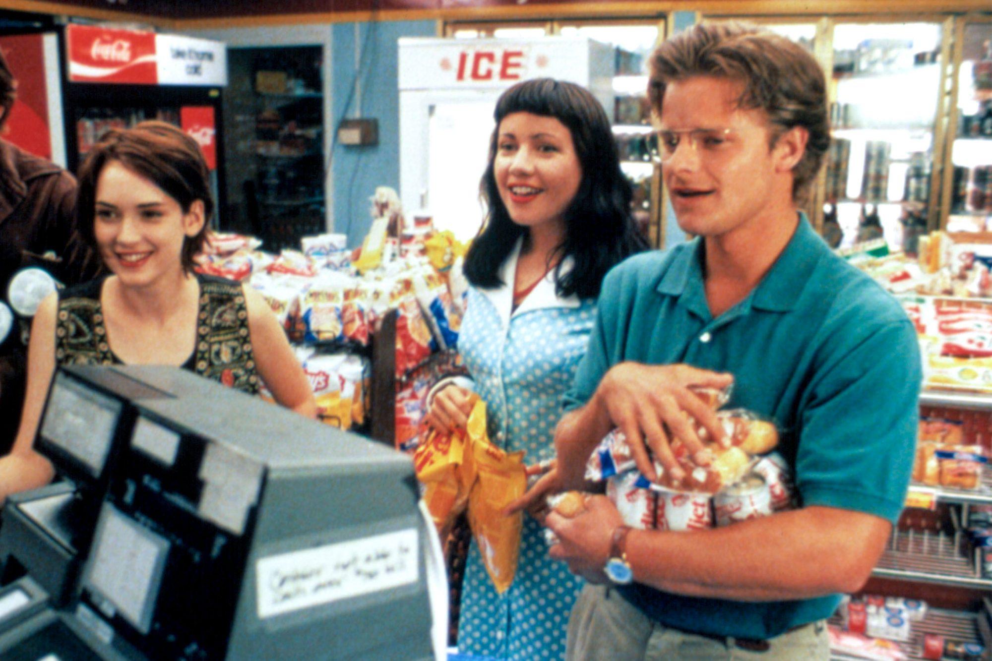 REALITY BITES, Ethan Hawke, Winona Ryder, Janeane Garofalo, Steve Zahn, 1994, (c) Universal/courtesy