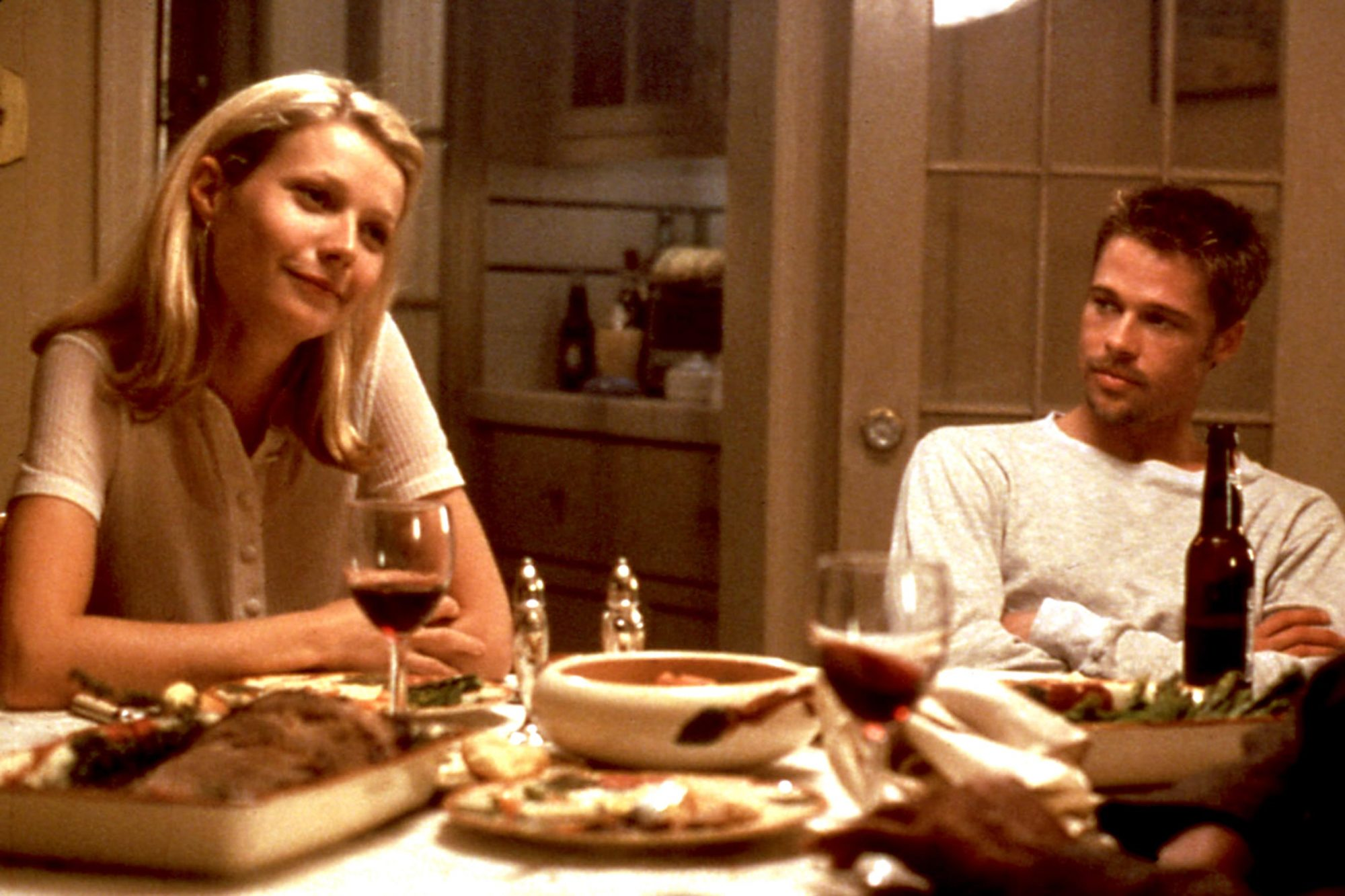 SEVEN, Gwyneth Paltrow, Brad Pitt, Morgan Freeman, 1995