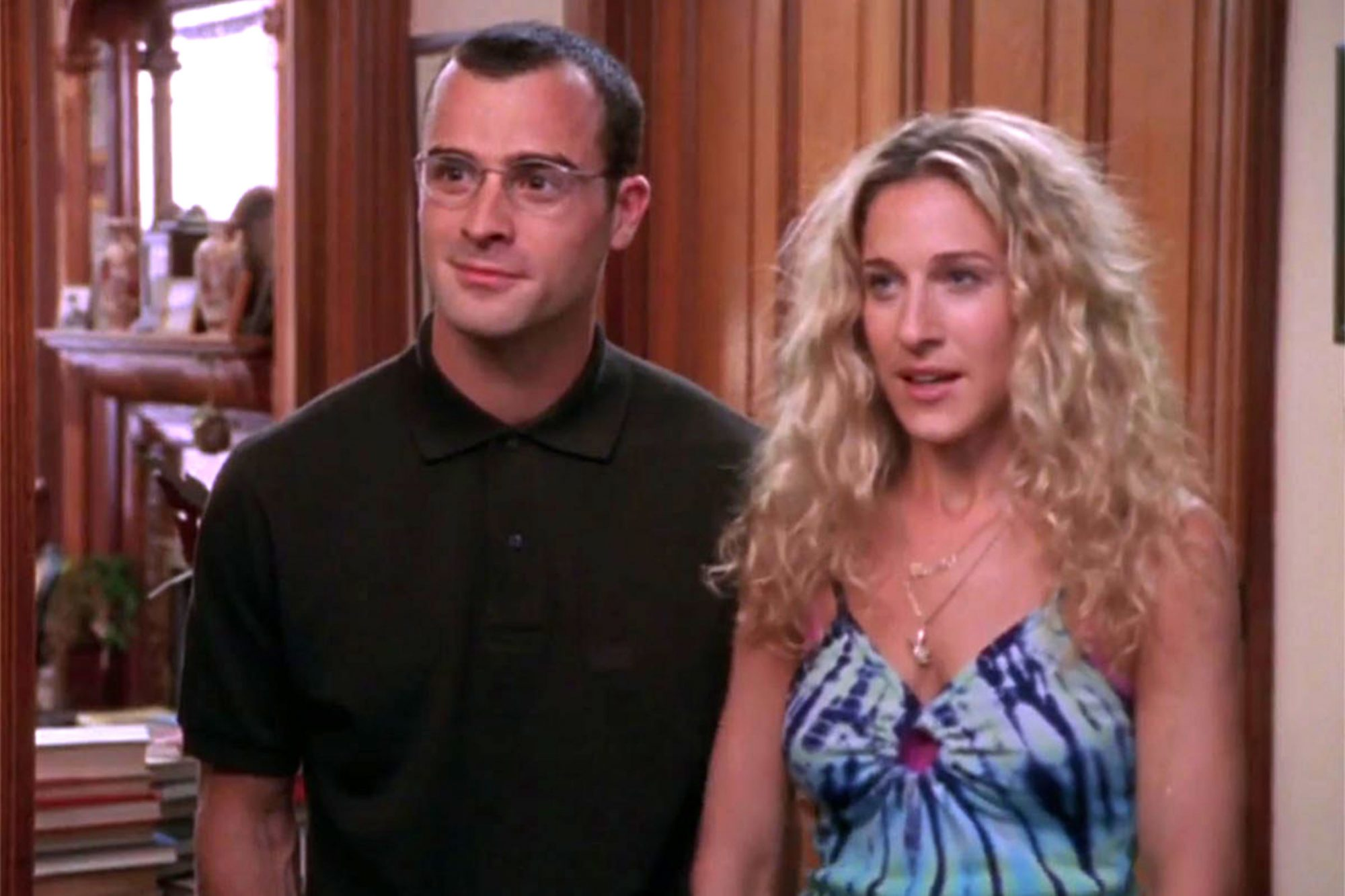 Sex and the CitySeason 2Justin Theroux and Sarah Jessica Parker CR: HBO