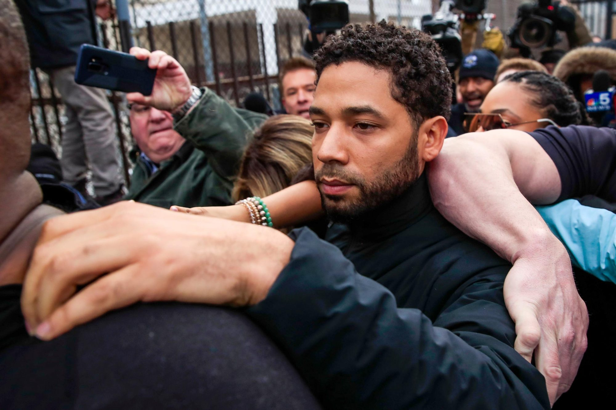 Jussie Smollett charged with felony disorderly conduct, Chicago, USA - 21 Feb 2019