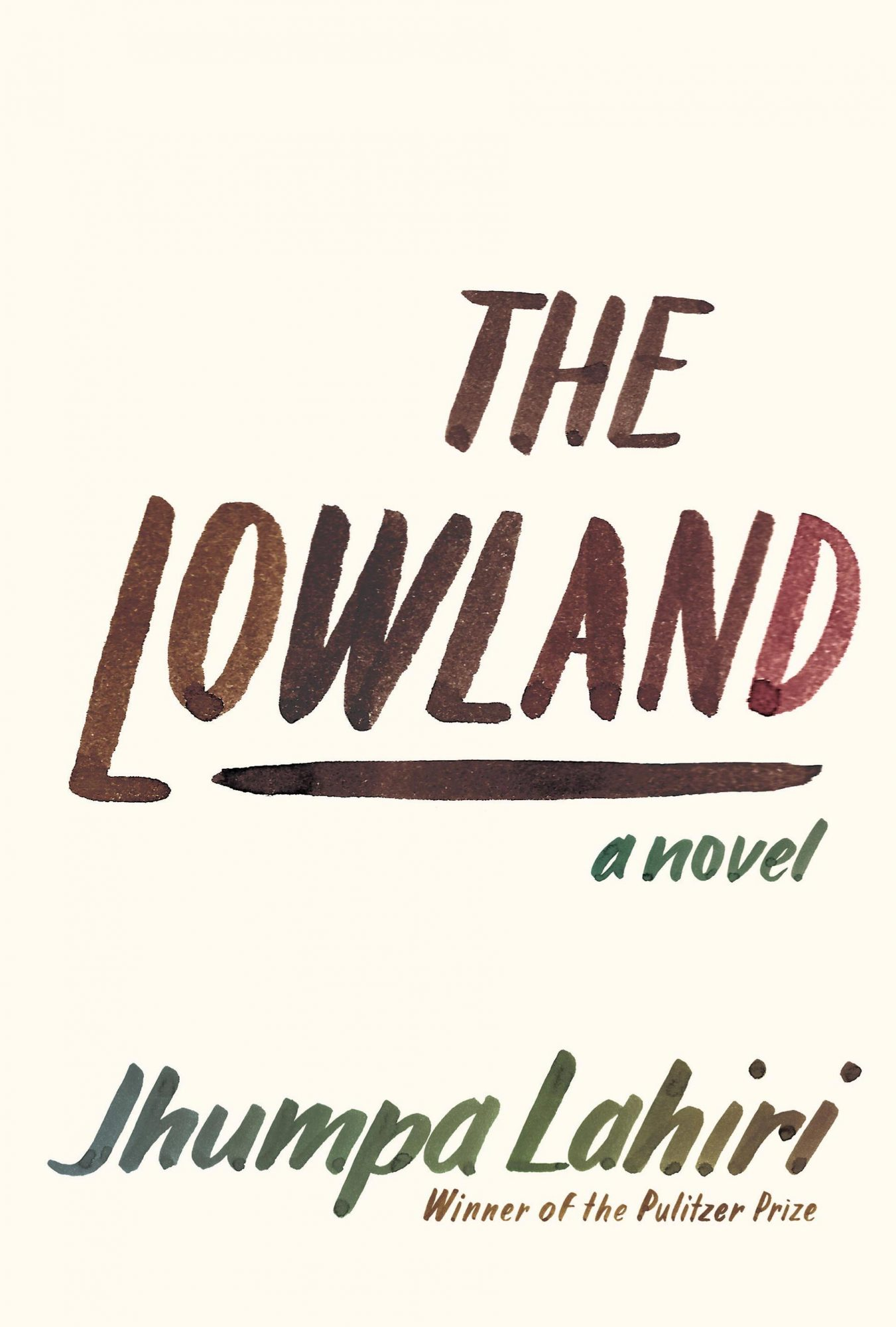 The Lowland (9/24/13)by Jhumpa Lahiri