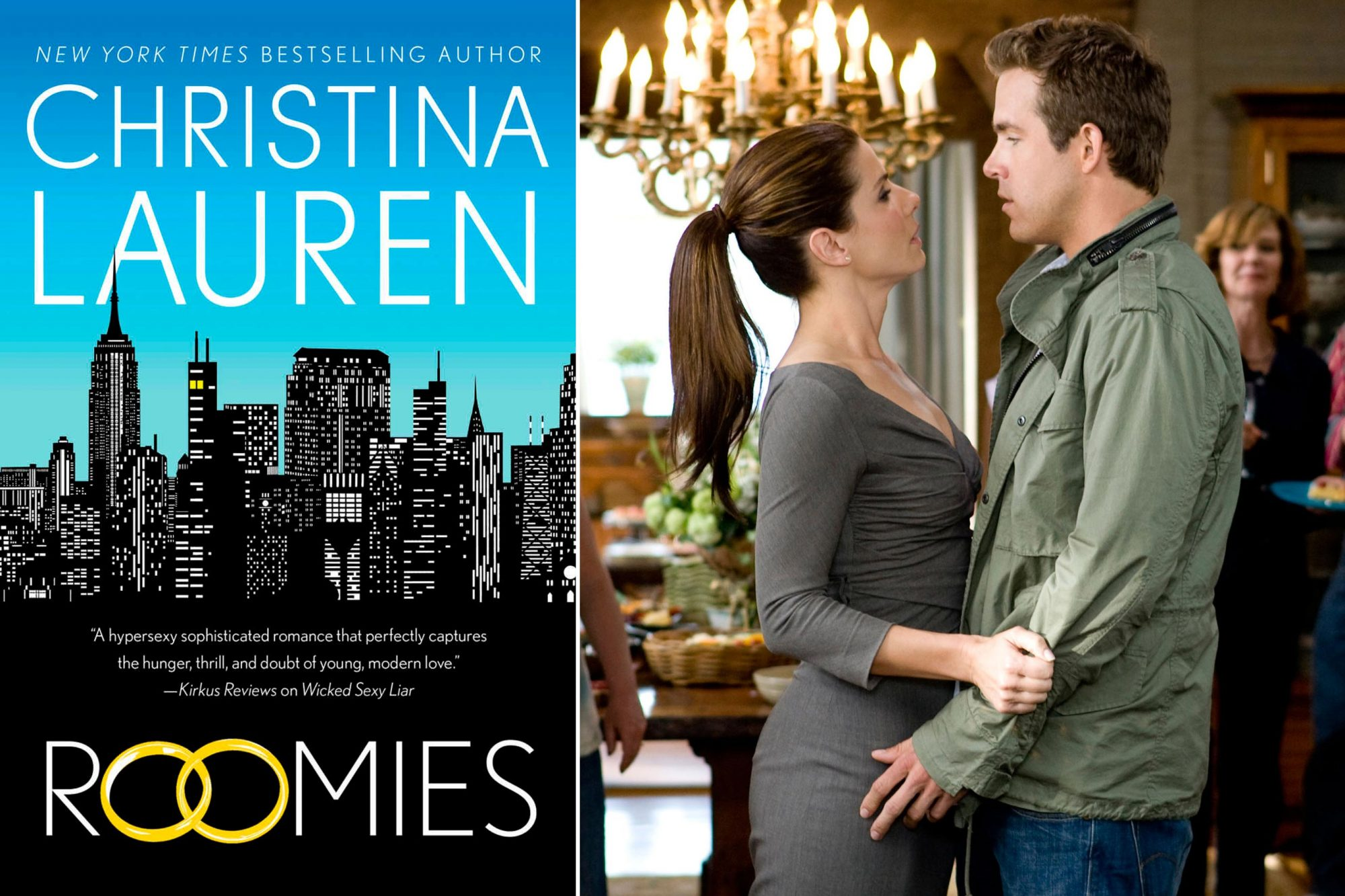 Read Roomies by Christina Lauren; Watch The Proposal (2009)