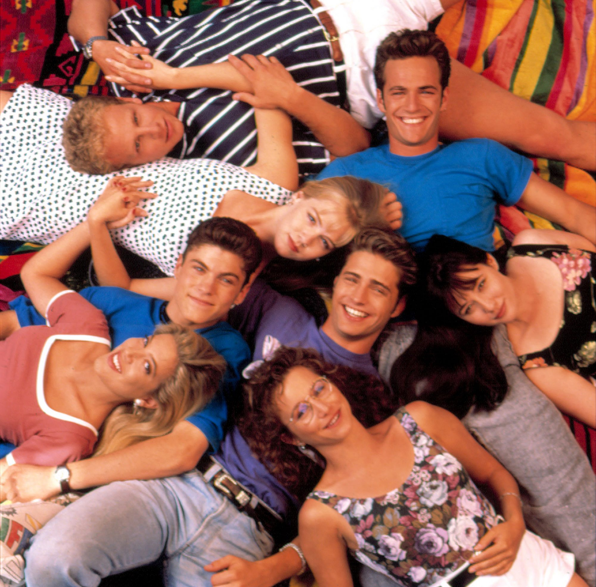 BEVERLY HILLS, 90210, cast portrait, 1990-2000