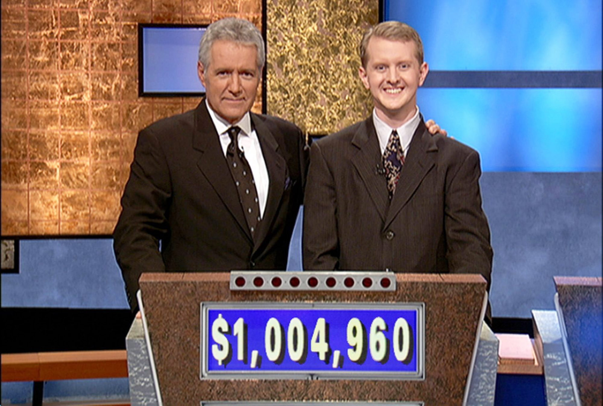 KEN JENNINGS BREAKS THE ONE MILLION DOLLAR MARK ON THE 'JEOPARDY' TV SHOW, CULVER CITY, CALIFORNIA, AMERICA - 14 JUL 2004