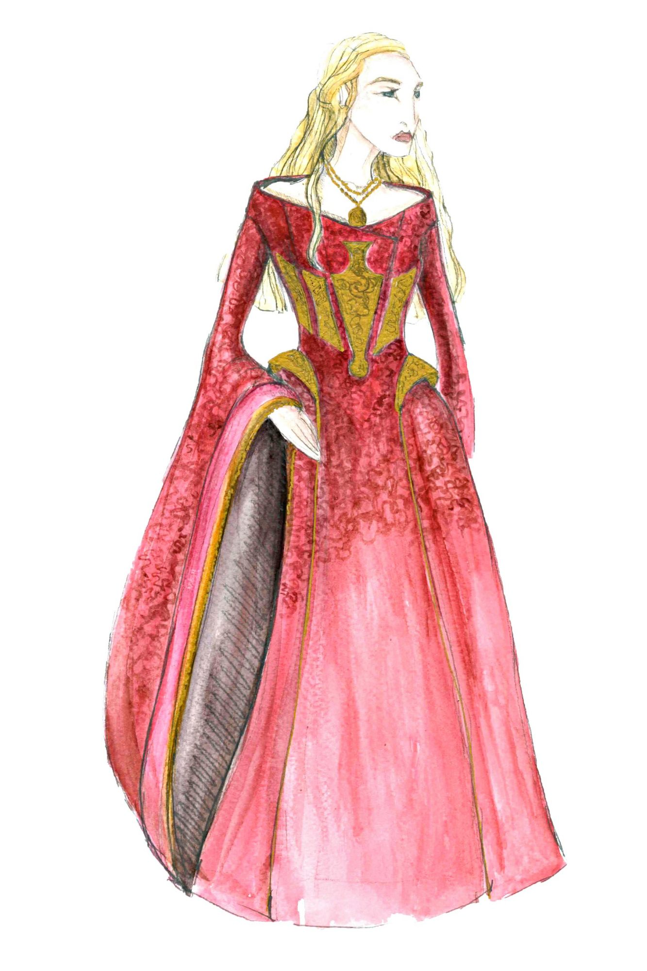 Game of ThronesCersei LannisterCostume Sketch