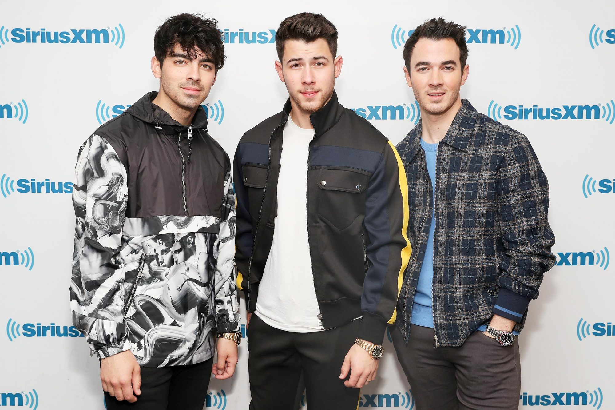 Jonas Brothers Visit The SiriusXM Studios In New York City
