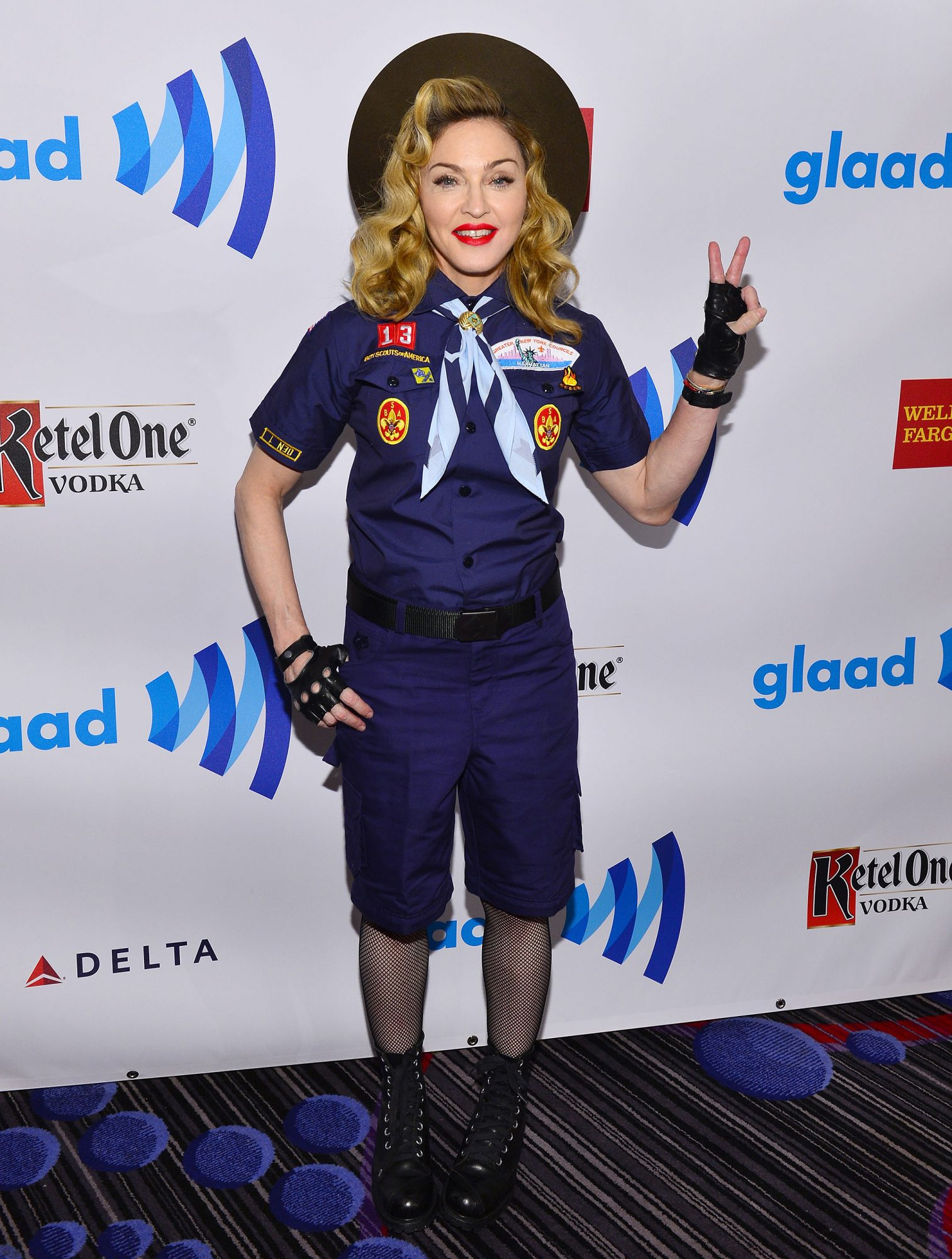 2013: Madonna protests the Boy Scout ban