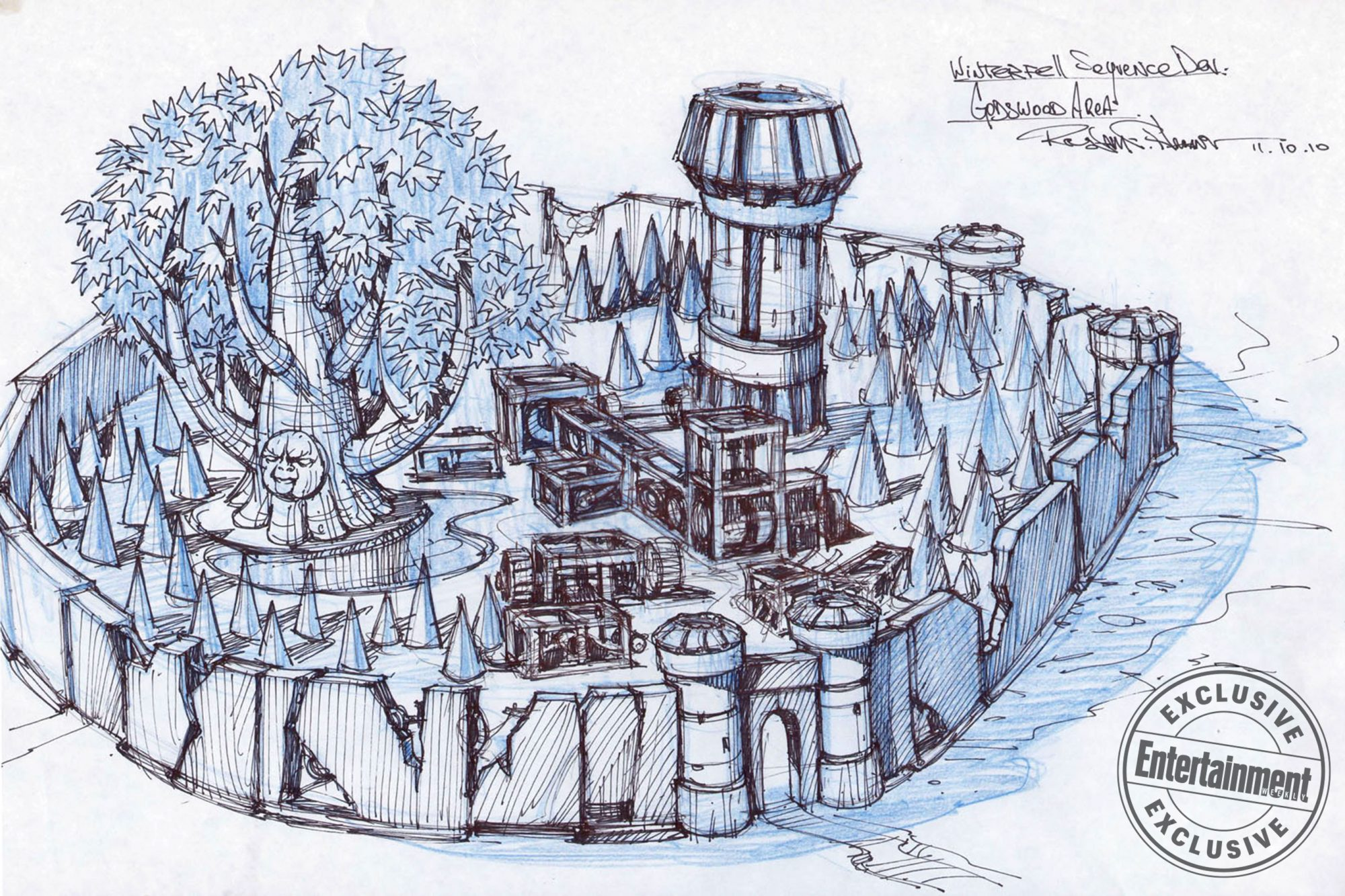 Game of ThronesTitle SequenceWinterfell/Godswood Concept Art