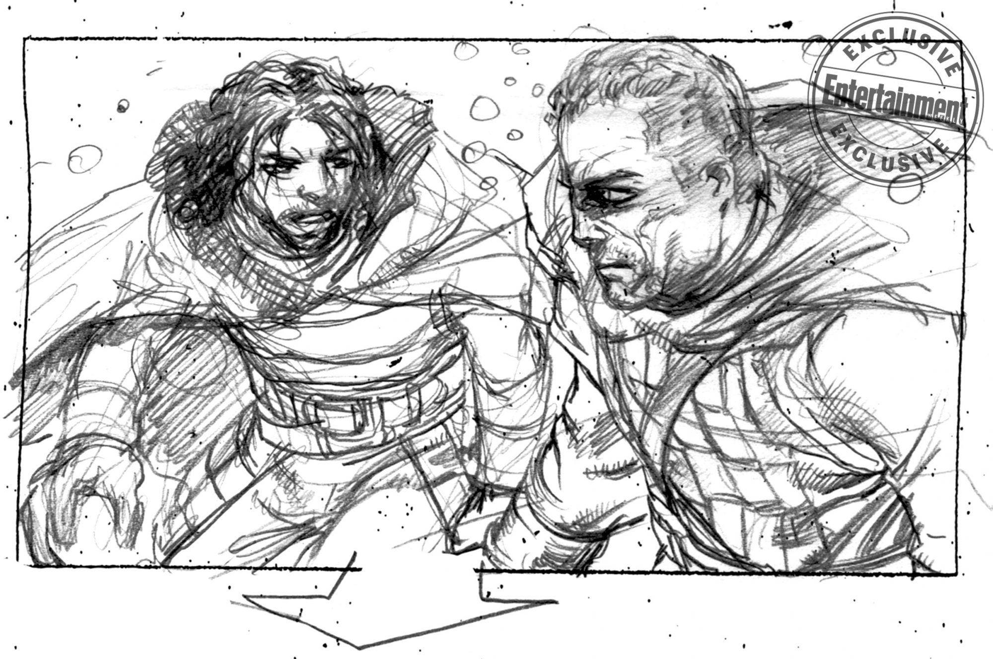 Game of Thrones storyboards for death of Jon SnowCR: Will Simpson/HBO