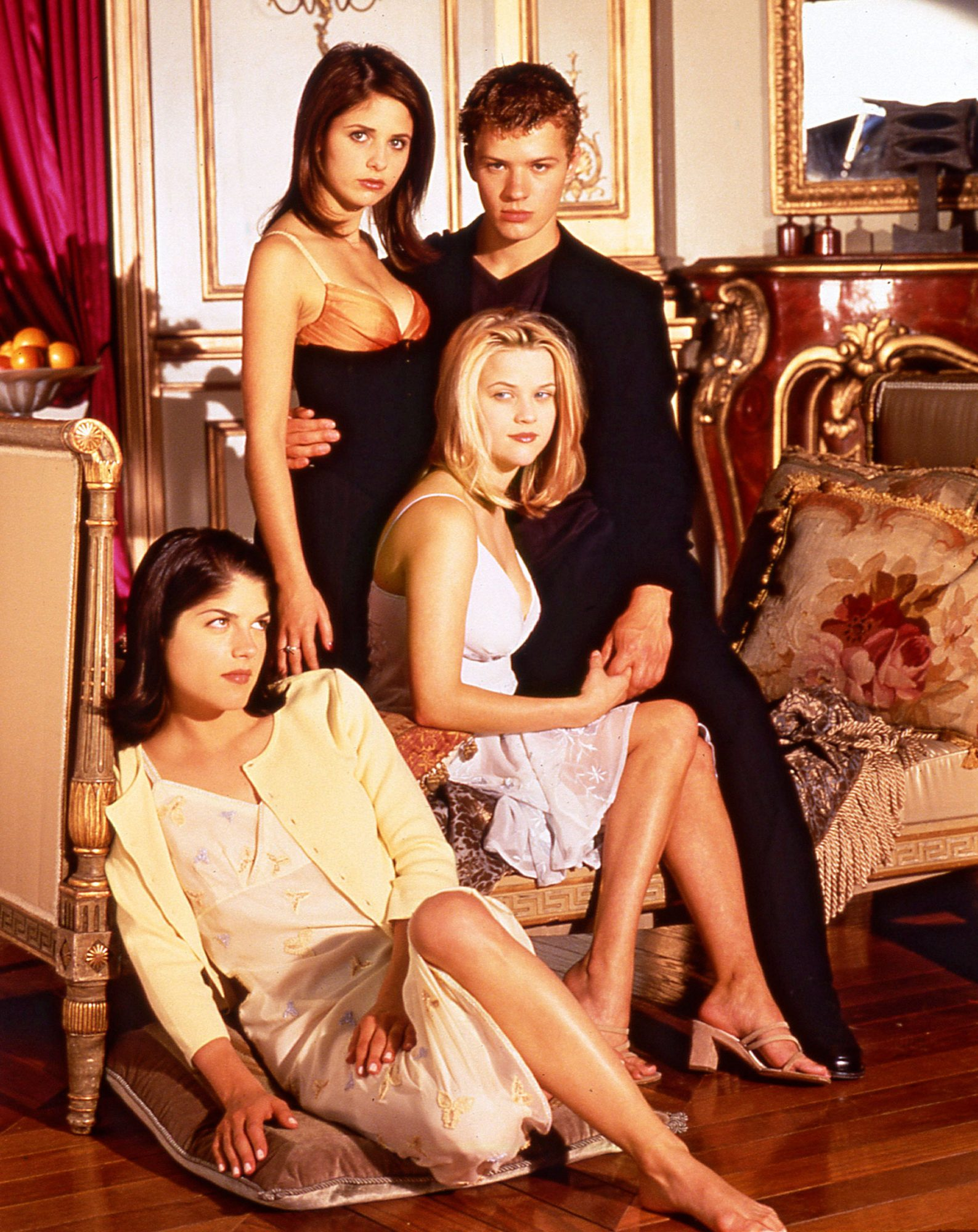 various stills and BTS from the 199 movie Cruel Intentions