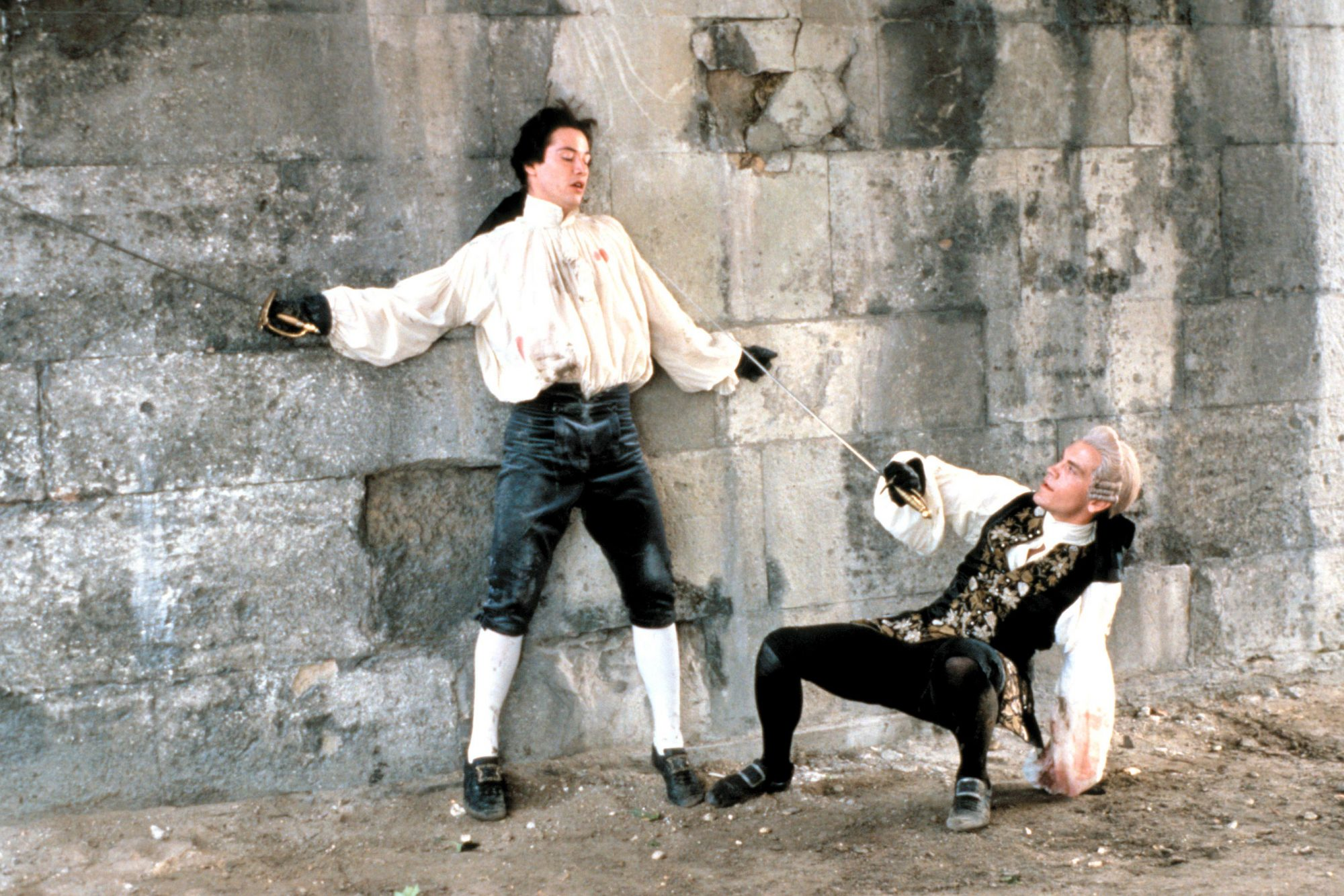 DANGEROUS LIAISONS, Keanu Reeves, John Malkovich, 1988, (c) Warner Brothers/courtesy Everett Collect