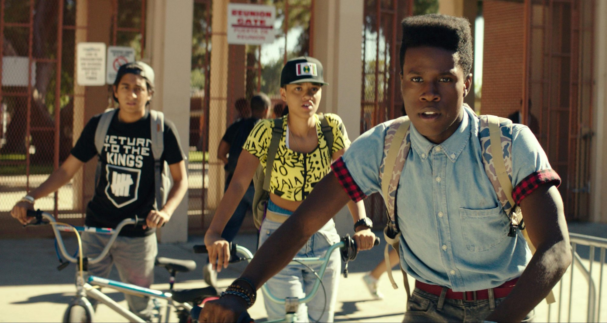 DOPE, from left: Tony Revolori, Kiersey Clemons, Shameik Moore, 2015. ©Open Road Films/Courtesy