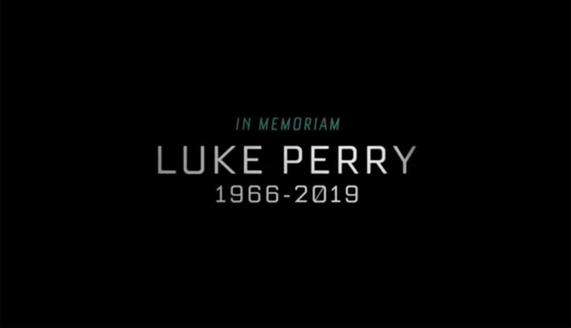 Riverdale Luke Perry tribute