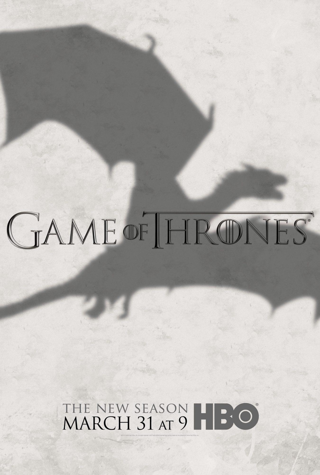 Game of Thrones poster/key artSeason 3CR: HBO