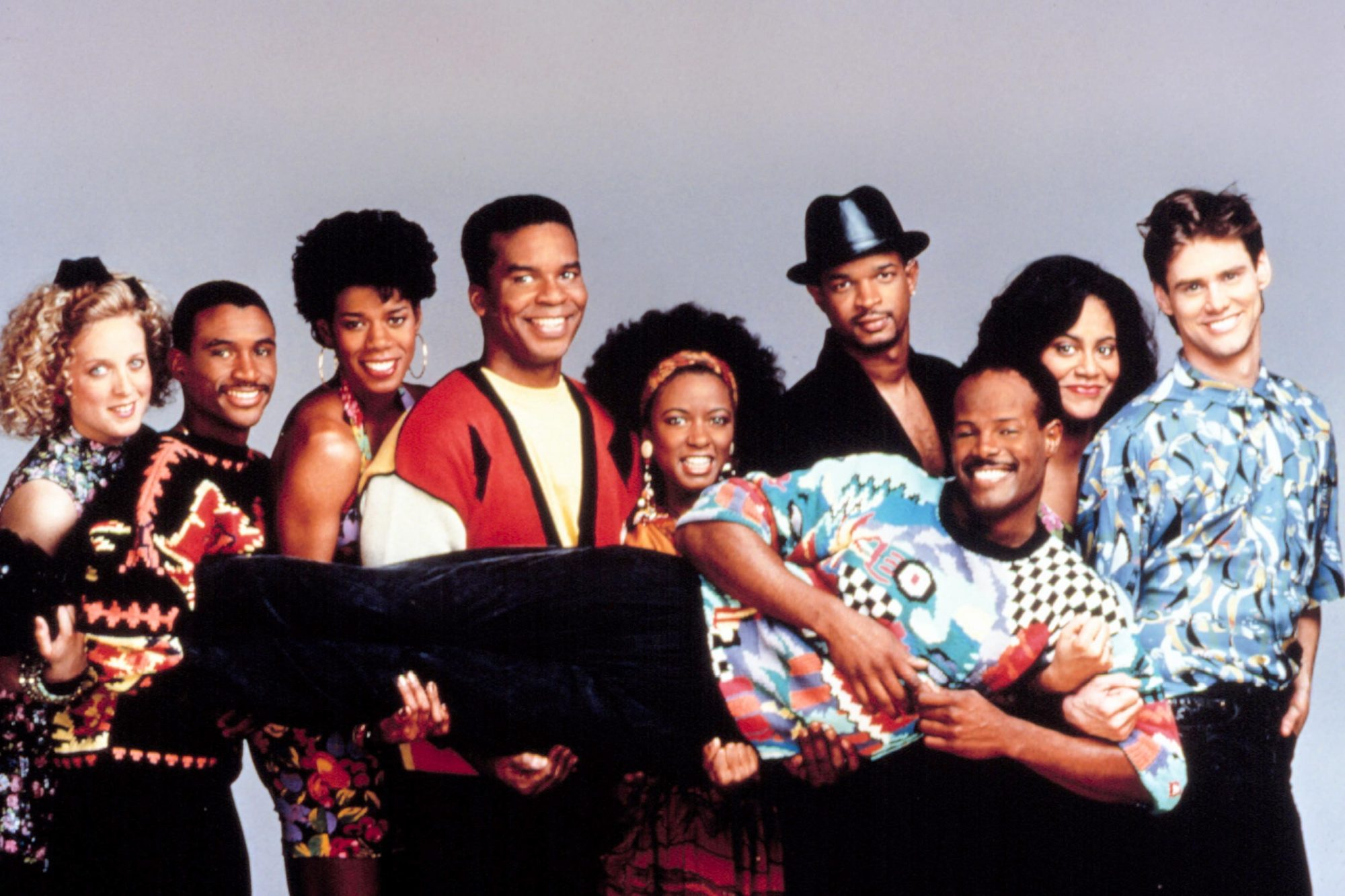 IN LIVING COLOR, Kelly Coffield, Tommy Davidson, Kim Wayans, David Alan Grier, Damon Wayans, Kim Col