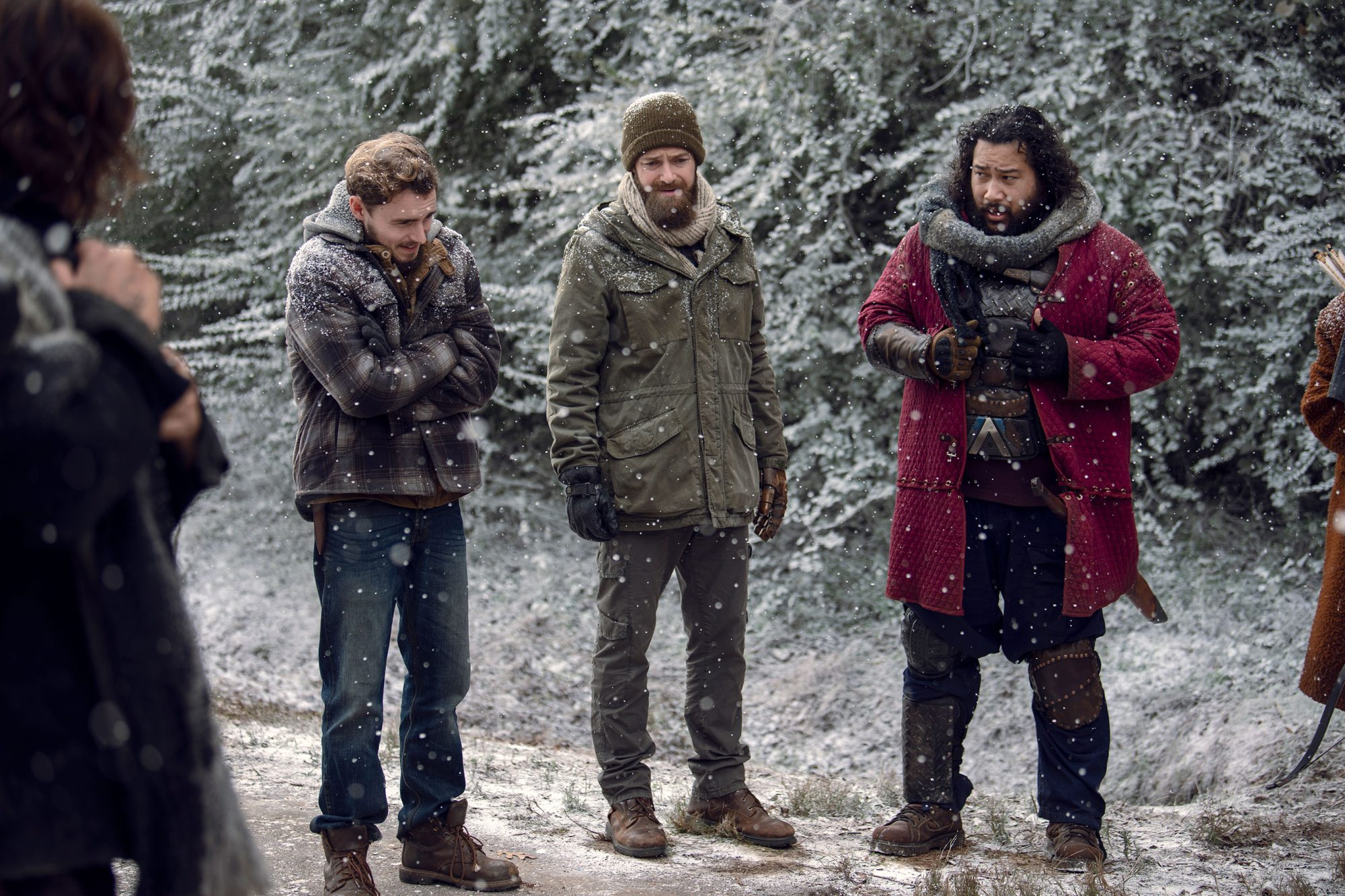 Callan McAuliffe as Alden, Ross Marquand as Aaron, Cooper Andrews as Jerry
