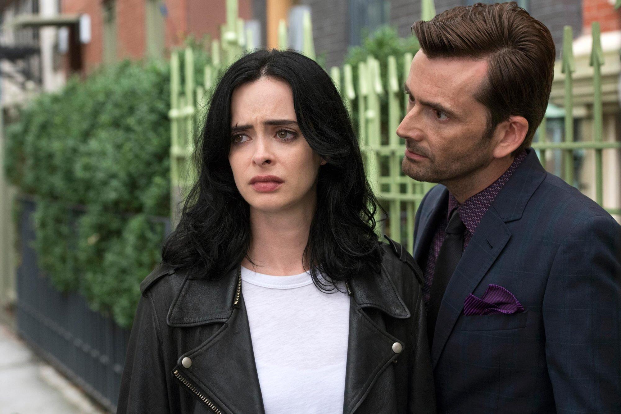 Jessica Jones And Kilgrave Halloween 2020 David Tennant won't be in 'Jessica Jones' season 3, reacts to